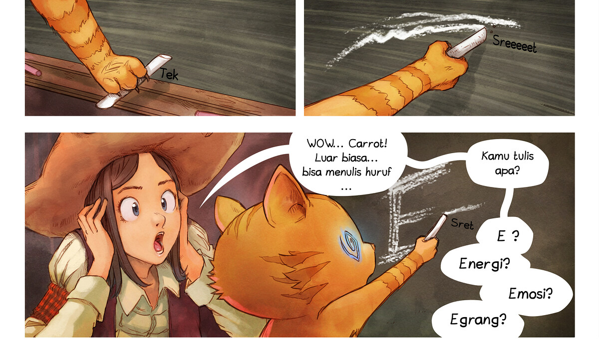 A webcomic page of Pepper&Carrot, episode 4 [id], halaman 6