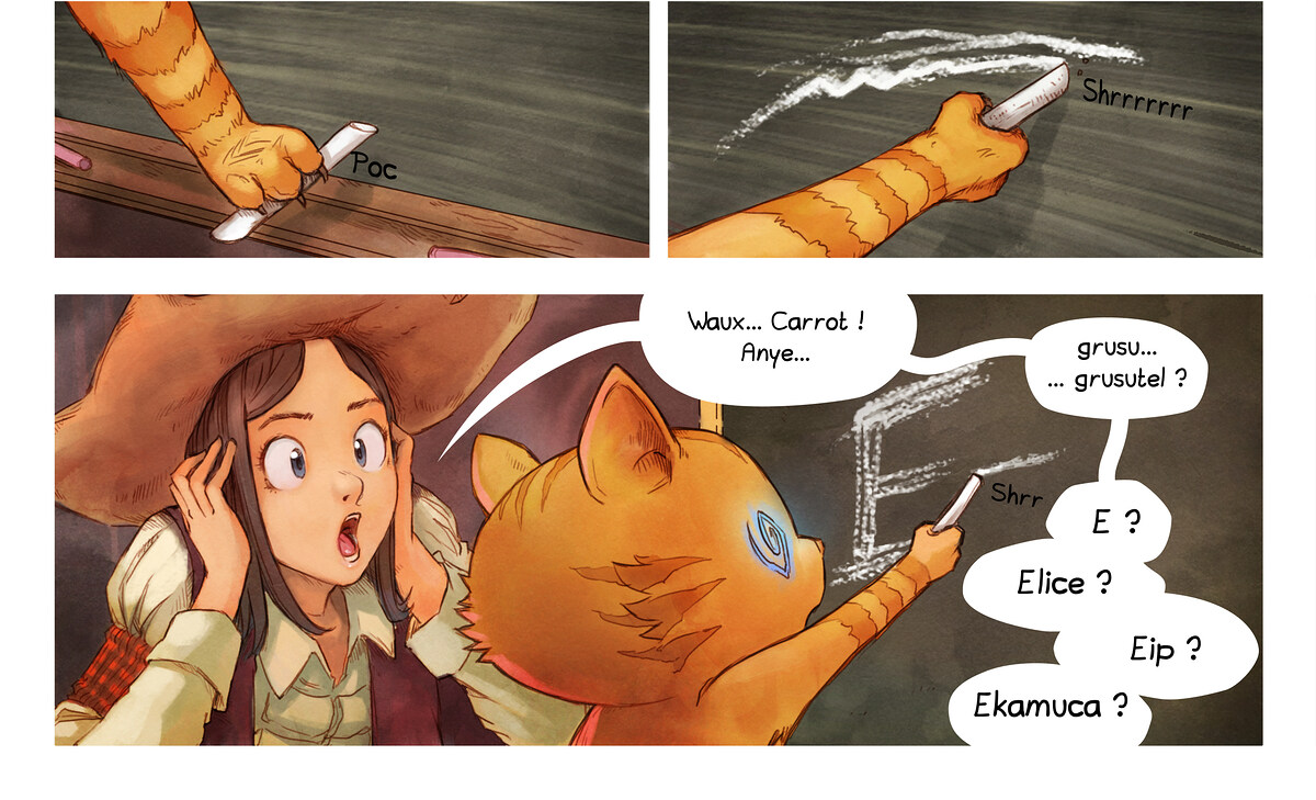 A webcomic page of Pepper&Carrot, episode 4 [kt], page 6