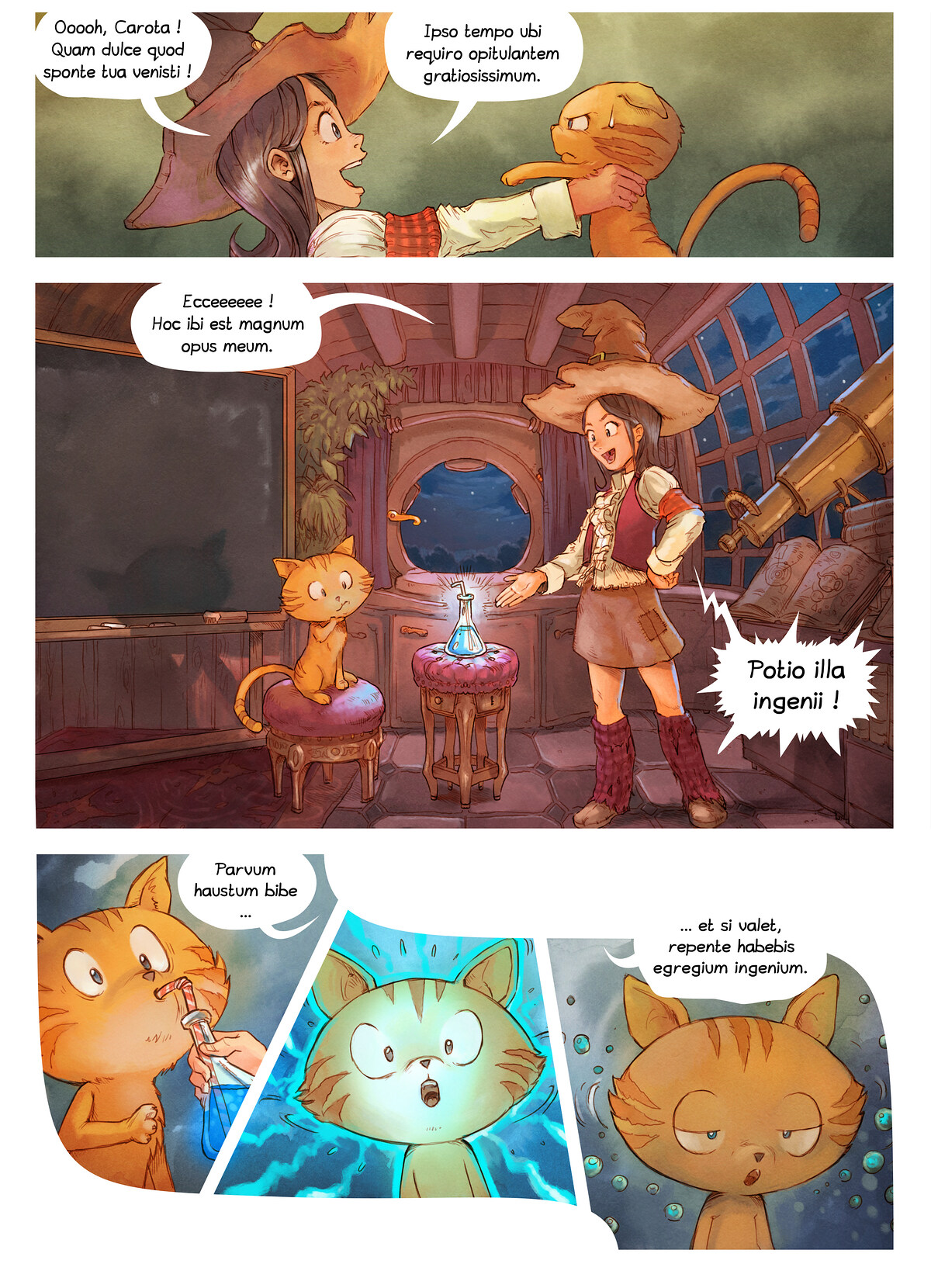 A webcomic page of Pepper&Carrot, episode 4 [la], page 3