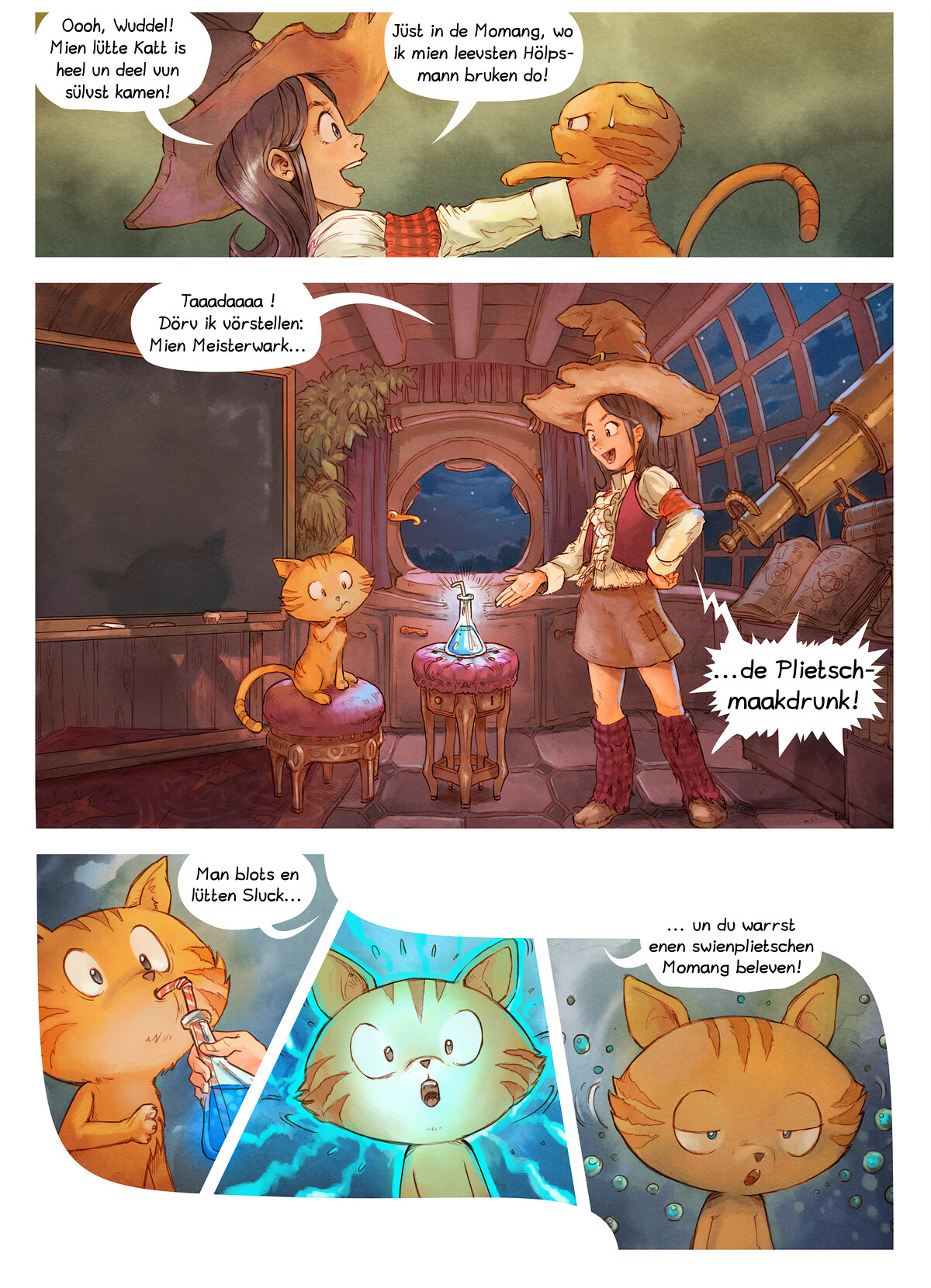 A webcomic page of Pepper&Carrot, Folg 4 [ns], Siet 3