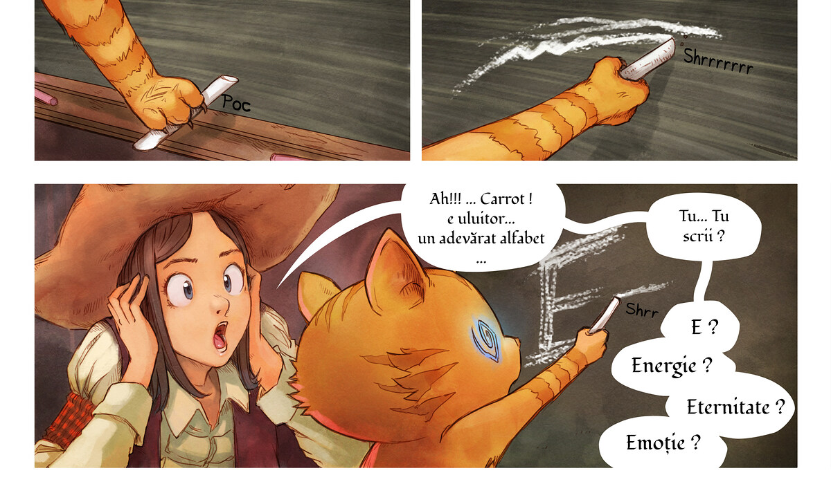 A webcomic page of Pepper&Carrot, episode 4 [ro], page 6