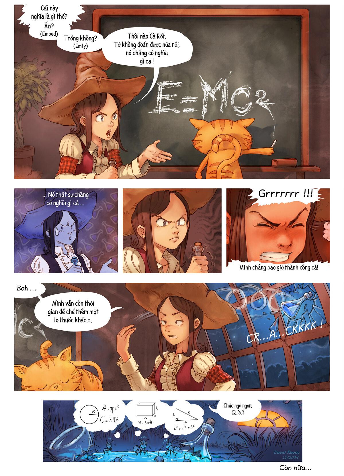 A webcomic page of Pepper&Carrot, Tập 4 [vi], trang 7