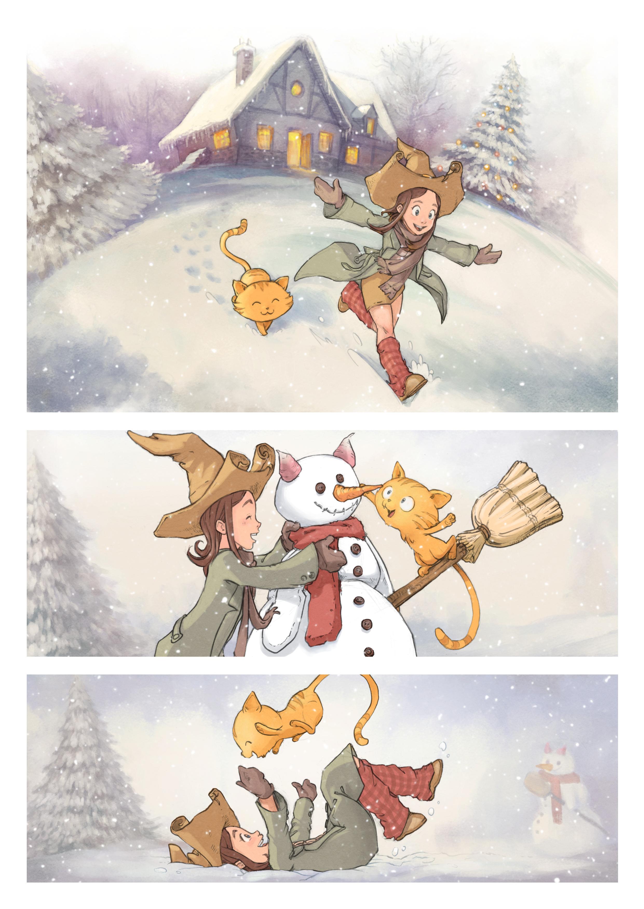 A webcomic page of Pepper&Carrot, episódio 5 [pt], página 1