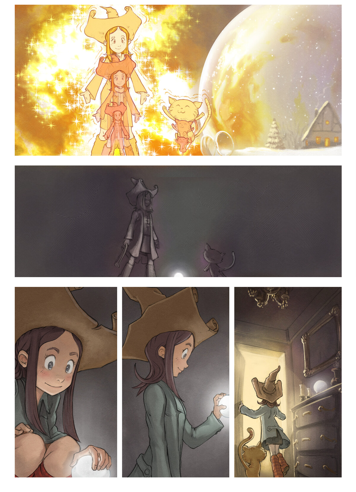 A webcomic page of Pepper&Carrot, episode 5 [sv], page 3