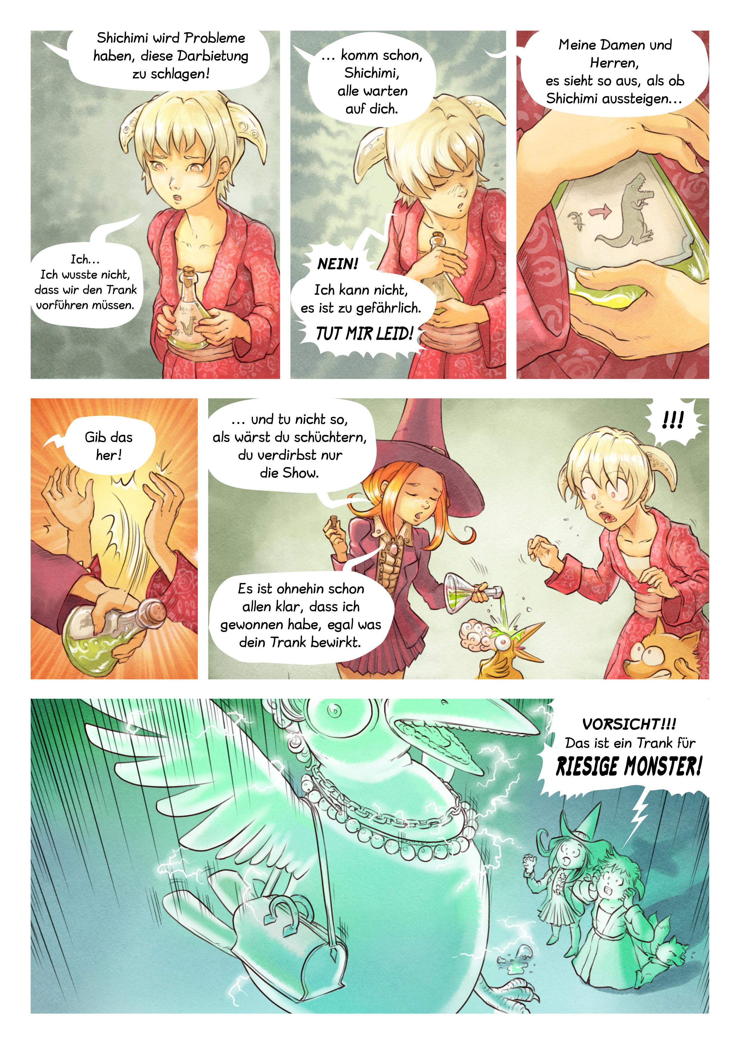 A webcomic page of Pepper&Carrot, Episode 6 [de], Seite 6