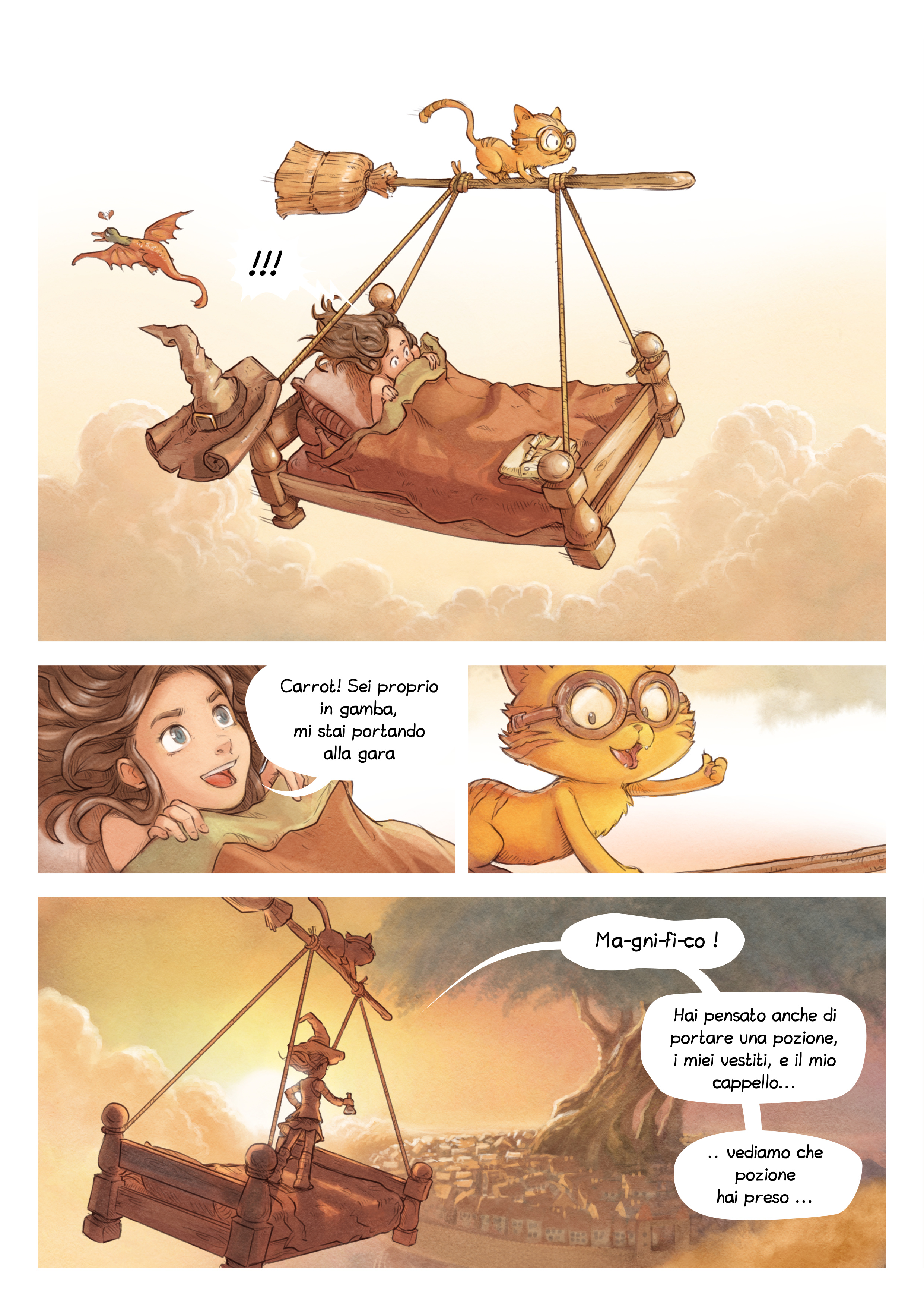 A webcomic page of Pepper&Carrot, episodio 6 [it], pagina 2
