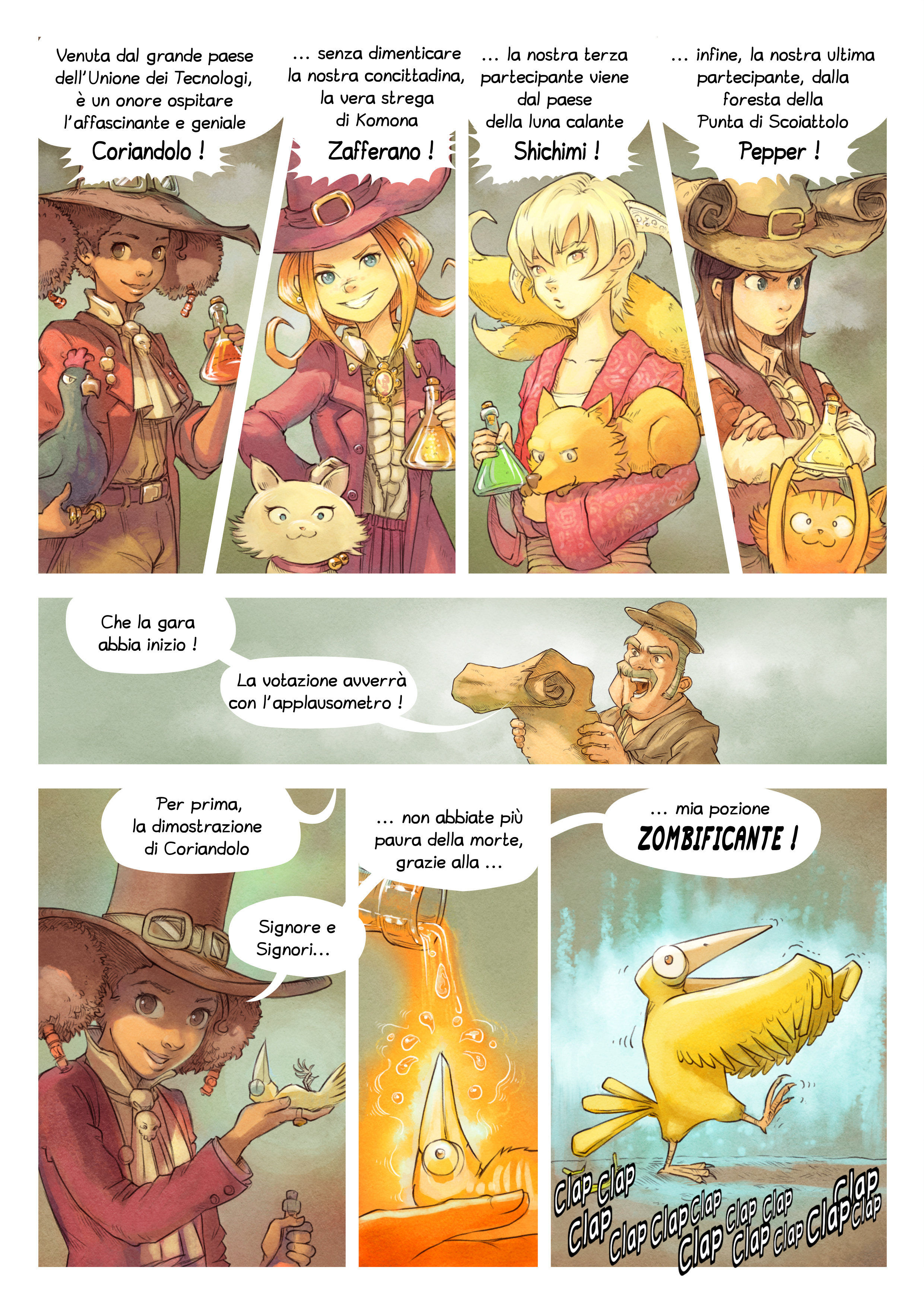 A webcomic page of Pepper&Carrot, episodio 6 [it], pagina 4