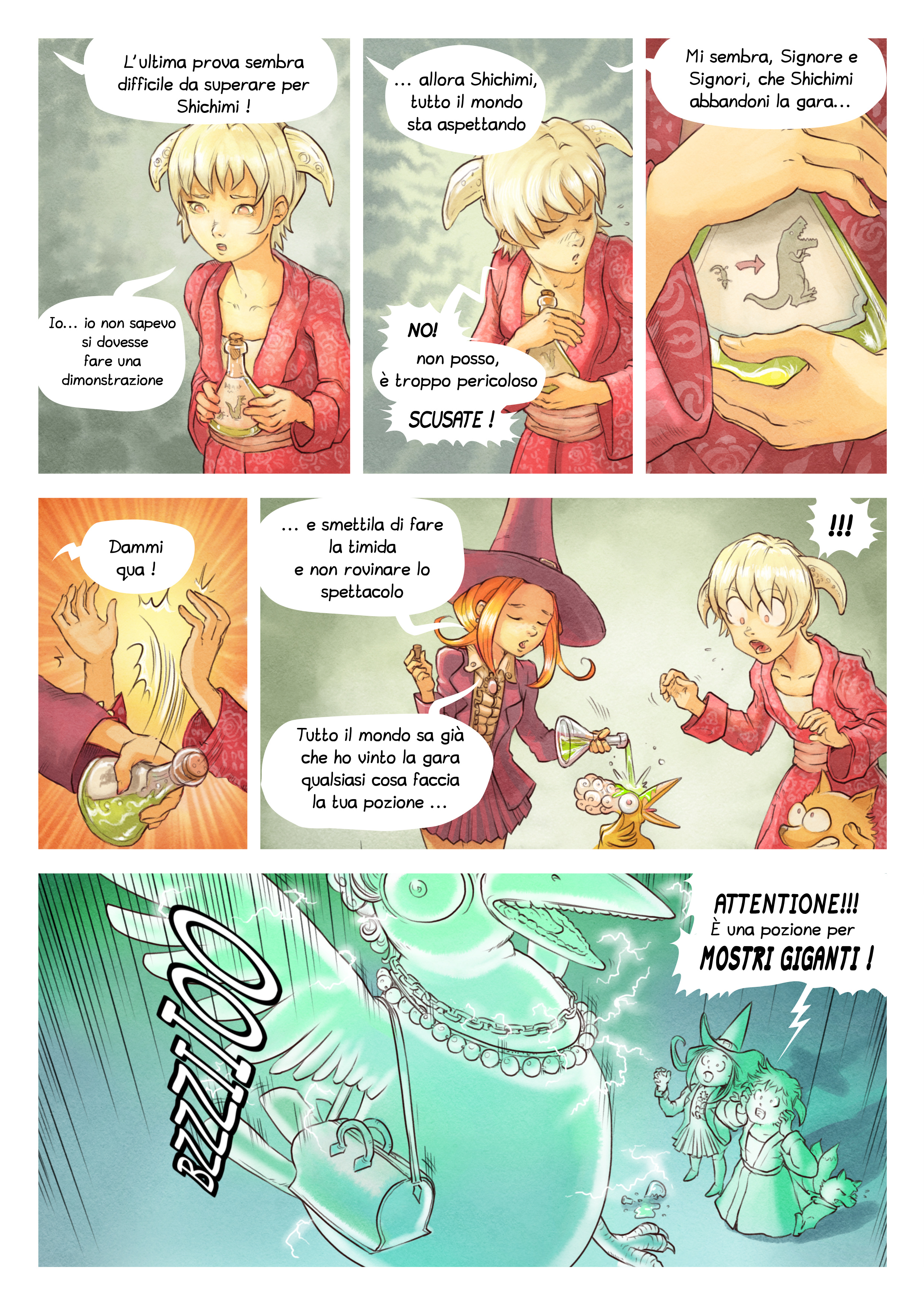 A webcomic page of Pepper&Carrot, episodio 6 [it], pagina 6