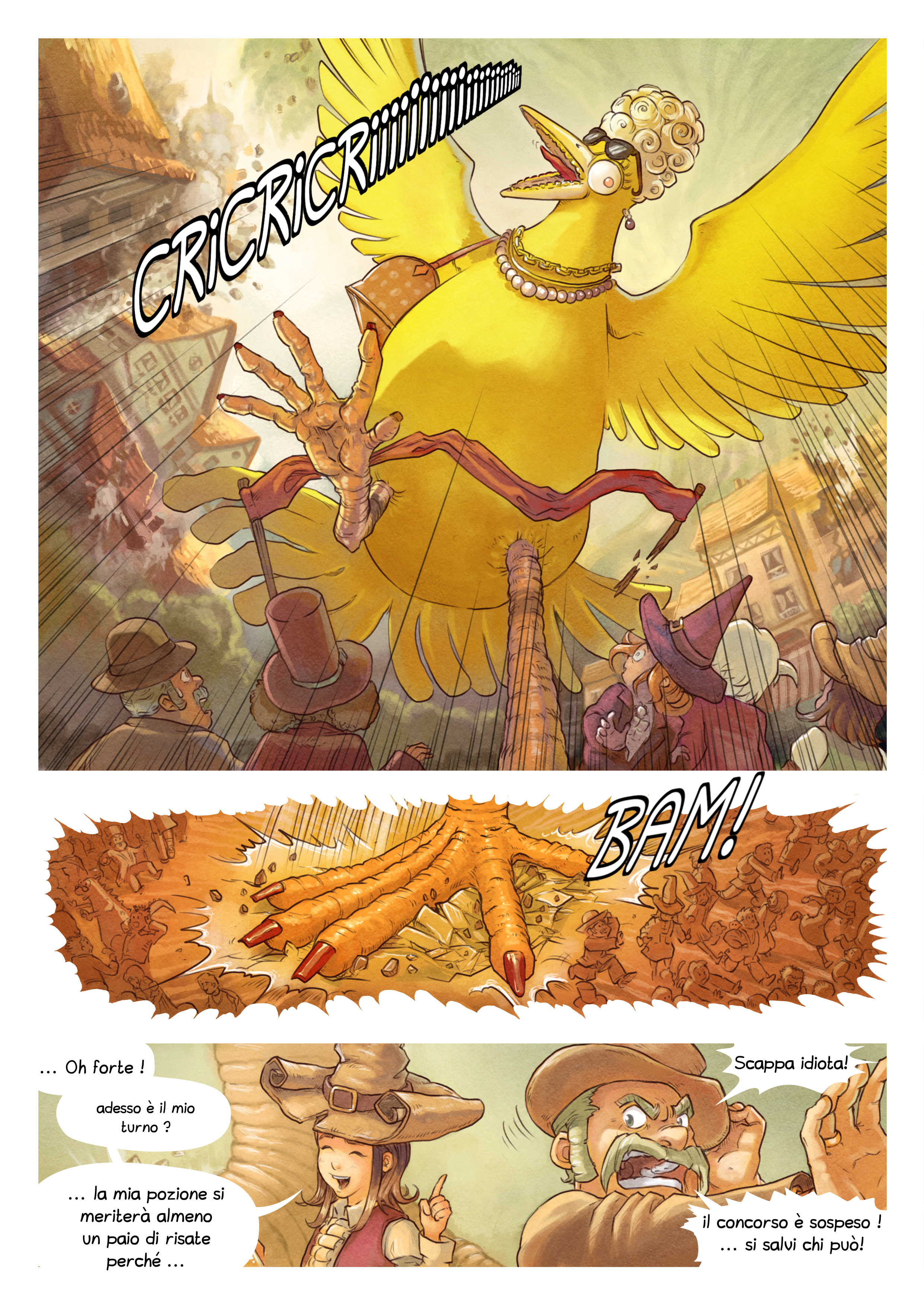 A webcomic page of Pepper&Carrot, episodio 6 [it], pagina 7