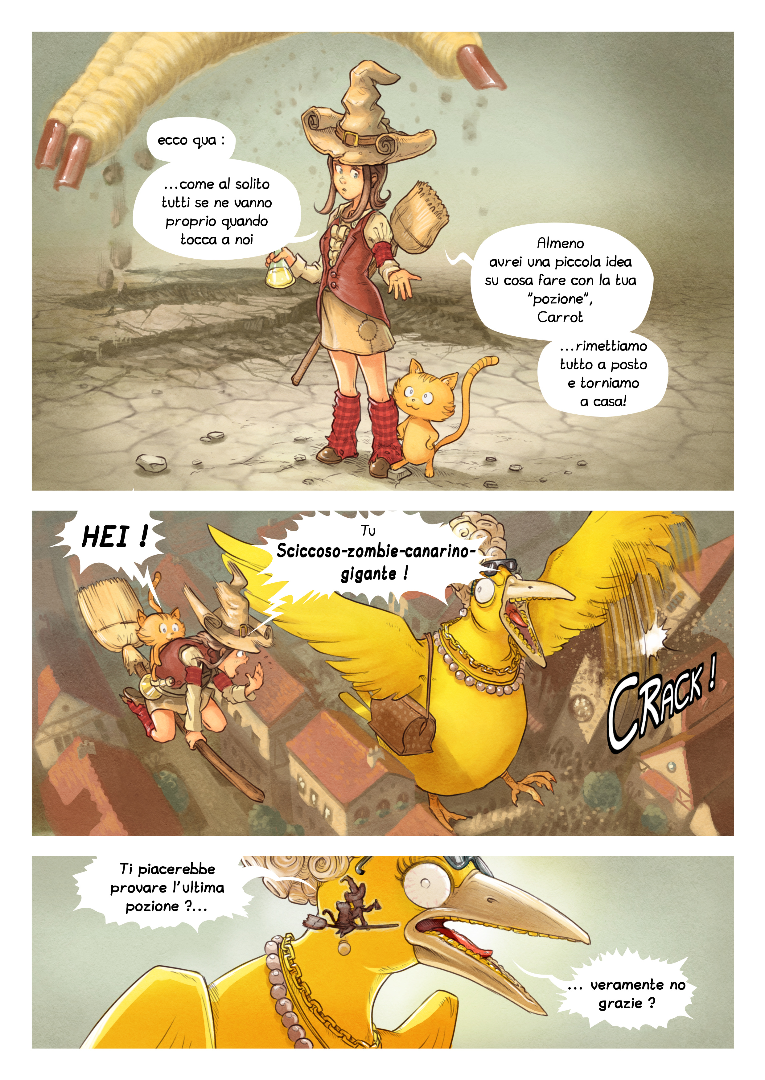 A webcomic page of Pepper&Carrot, episodio 6 [it], pagina 8