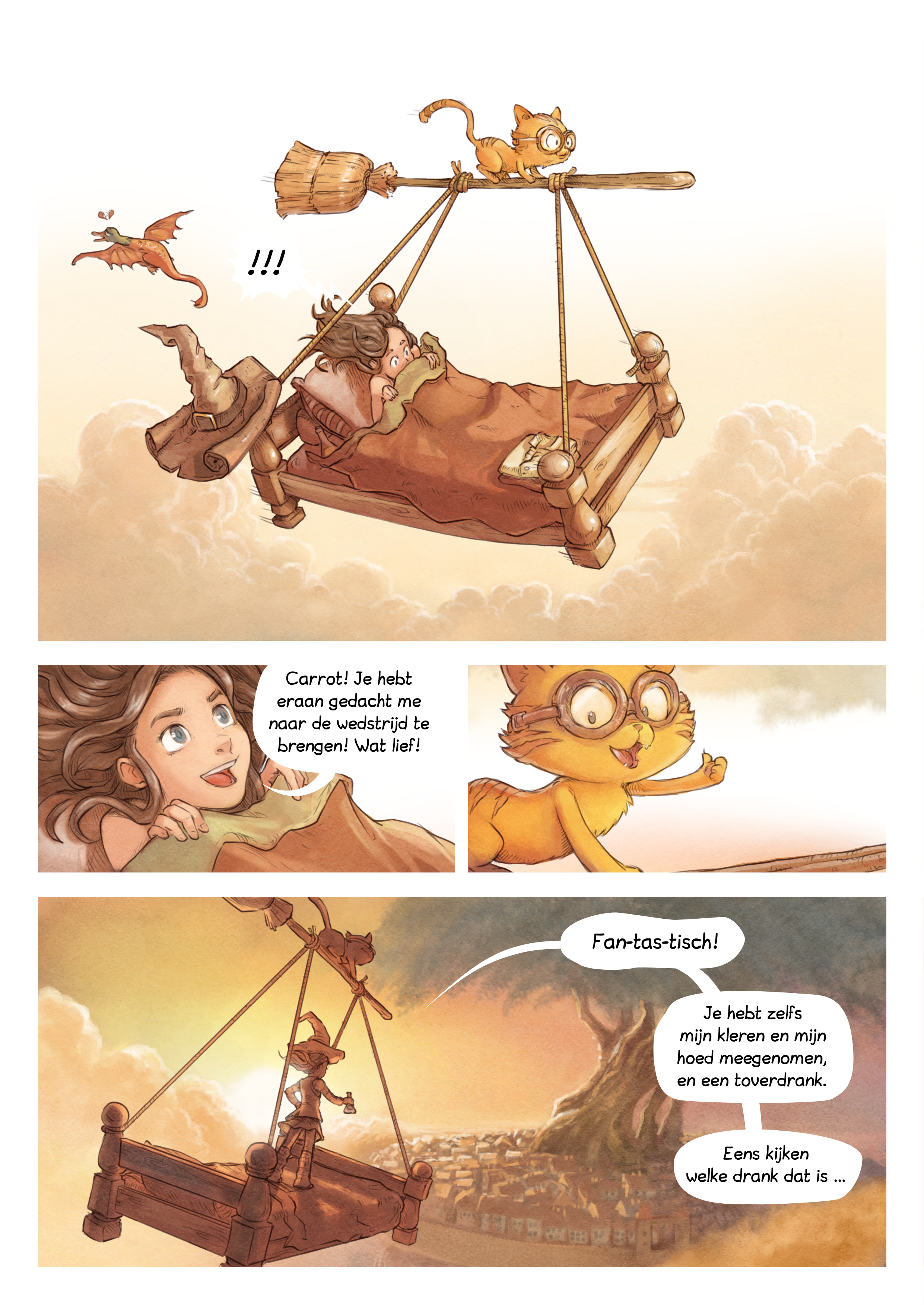 A webcomic page of Pepper&Carrot, aflevering 6 [nl], pagina 2