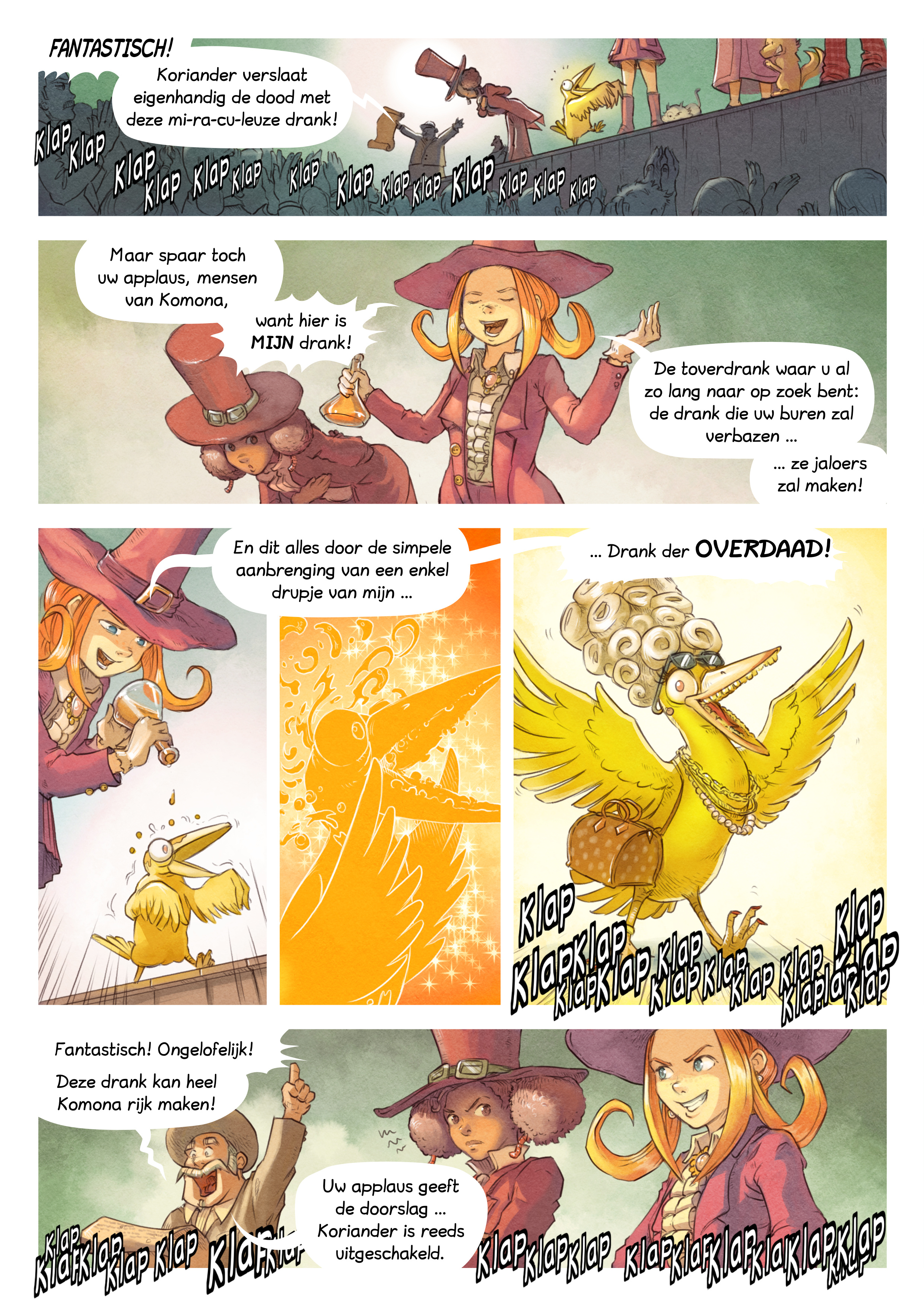 A webcomic page of Pepper&Carrot, aflevering 6 [nl], pagina 5