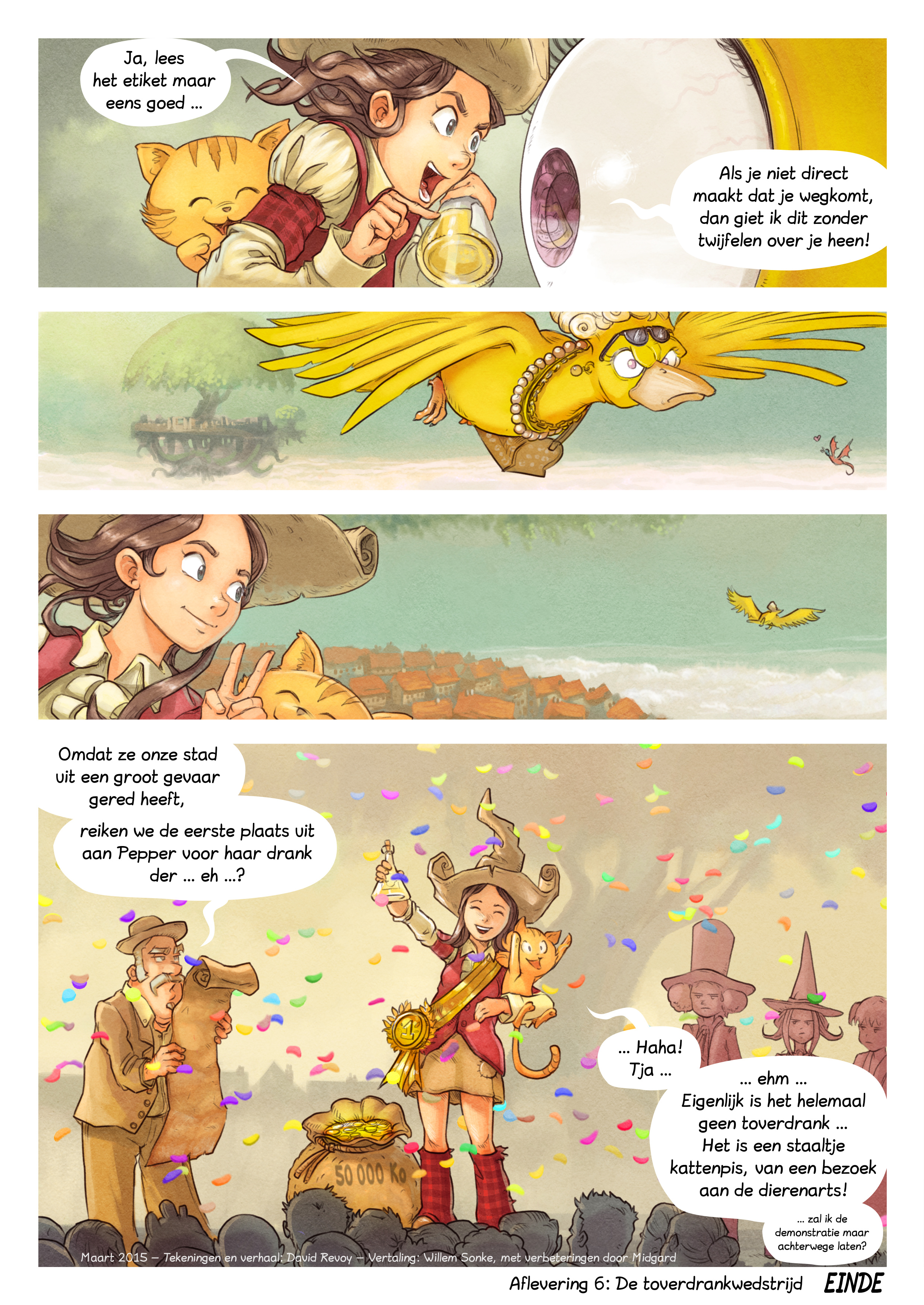A webcomic page of Pepper&Carrot, aflevering 6 [nl], pagina 9