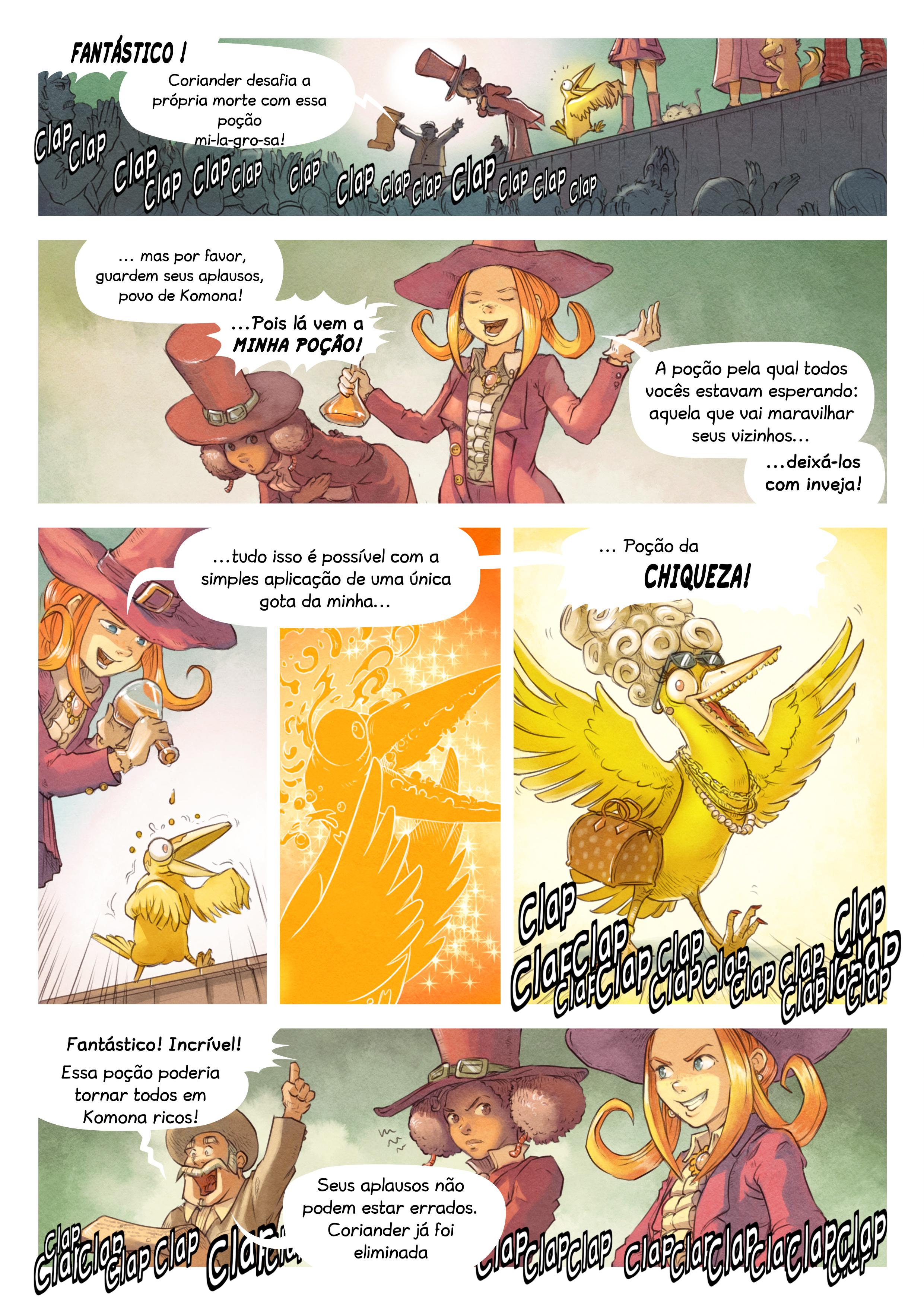 A webcomic page of Pepper&Carrot, episódio 6 [pt], página 5