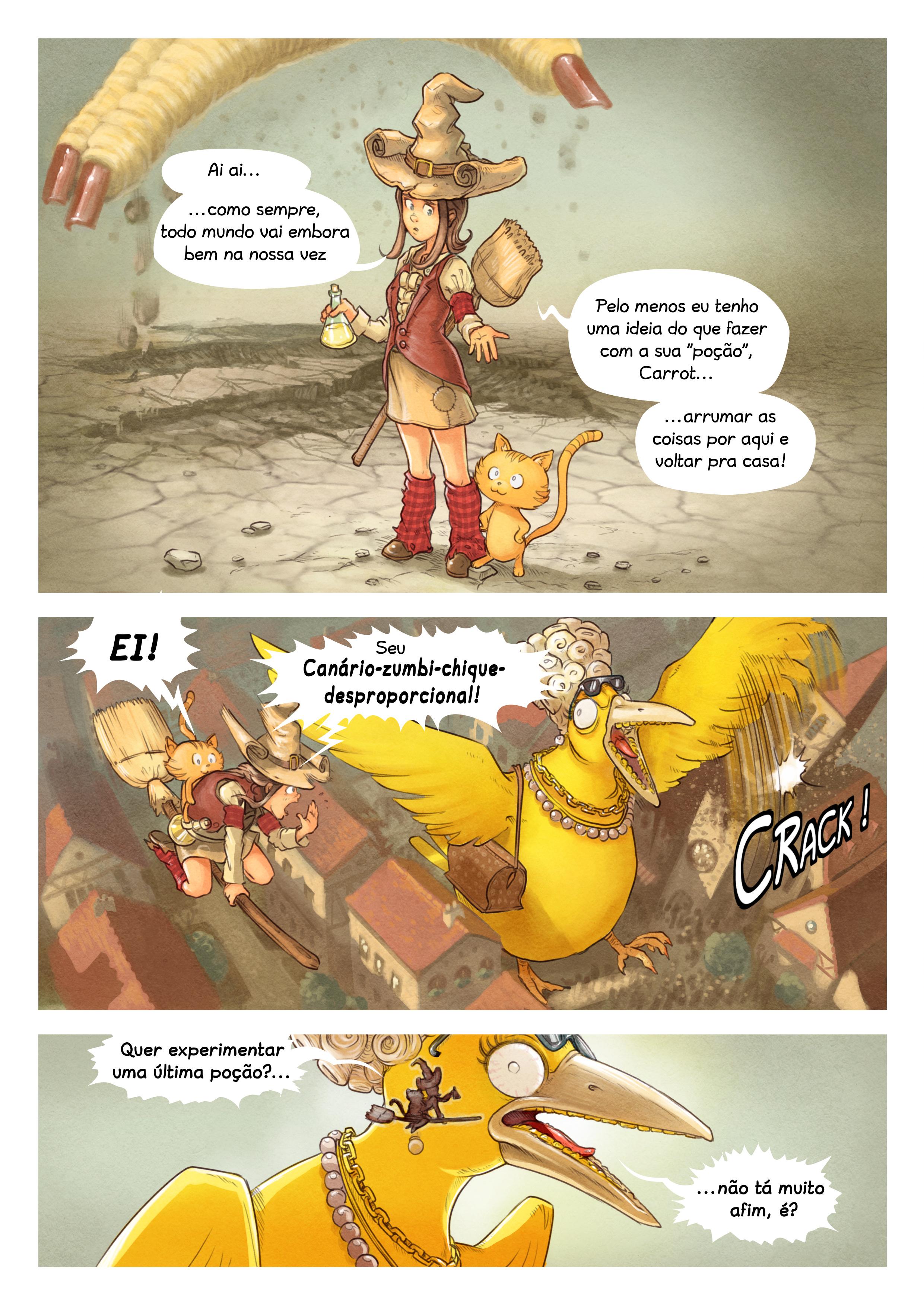 A webcomic page of Pepper&Carrot, episódio 6 [pt], página 8