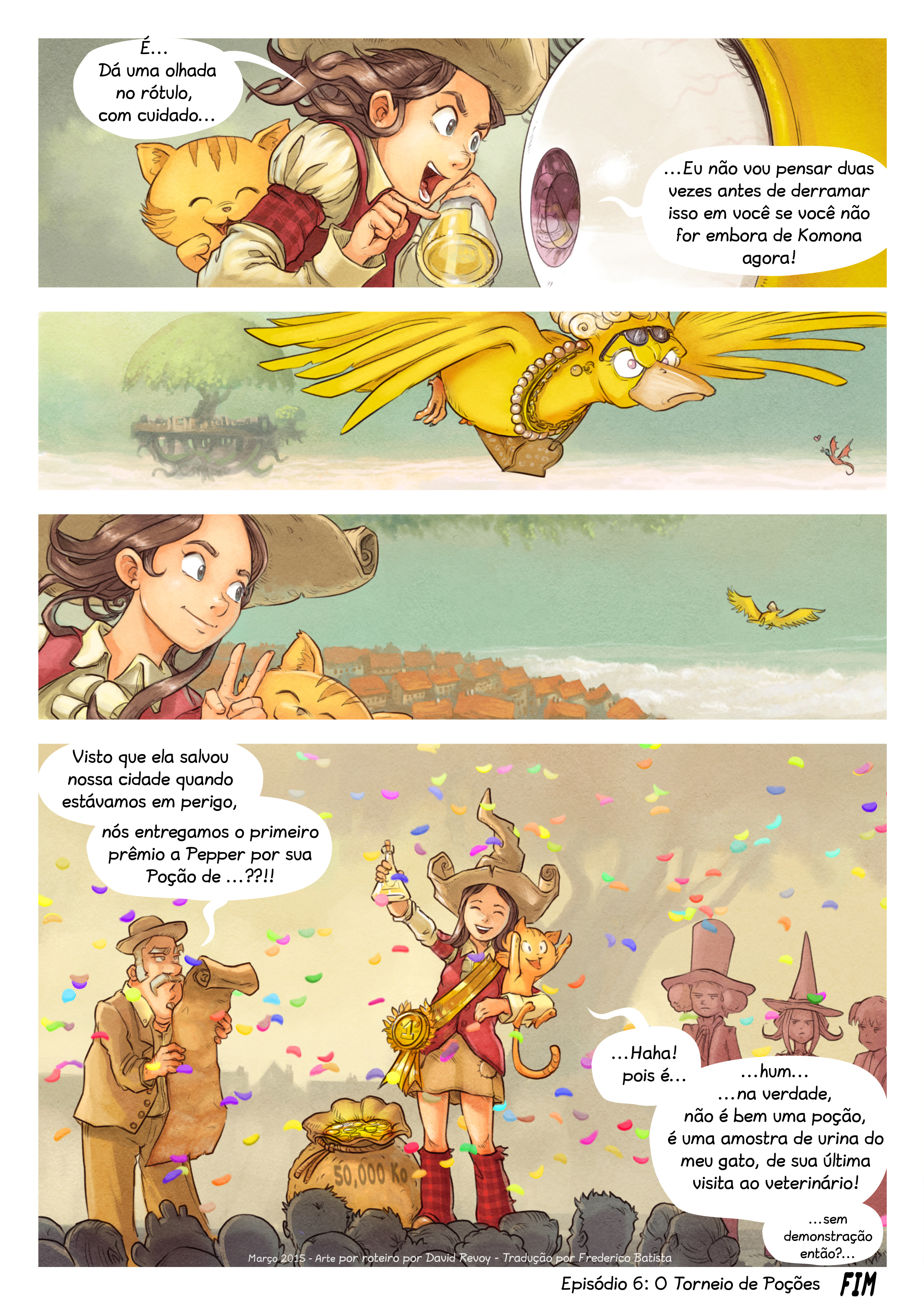 A webcomic page of Pepper&Carrot, episódio 6 [pt], página 9