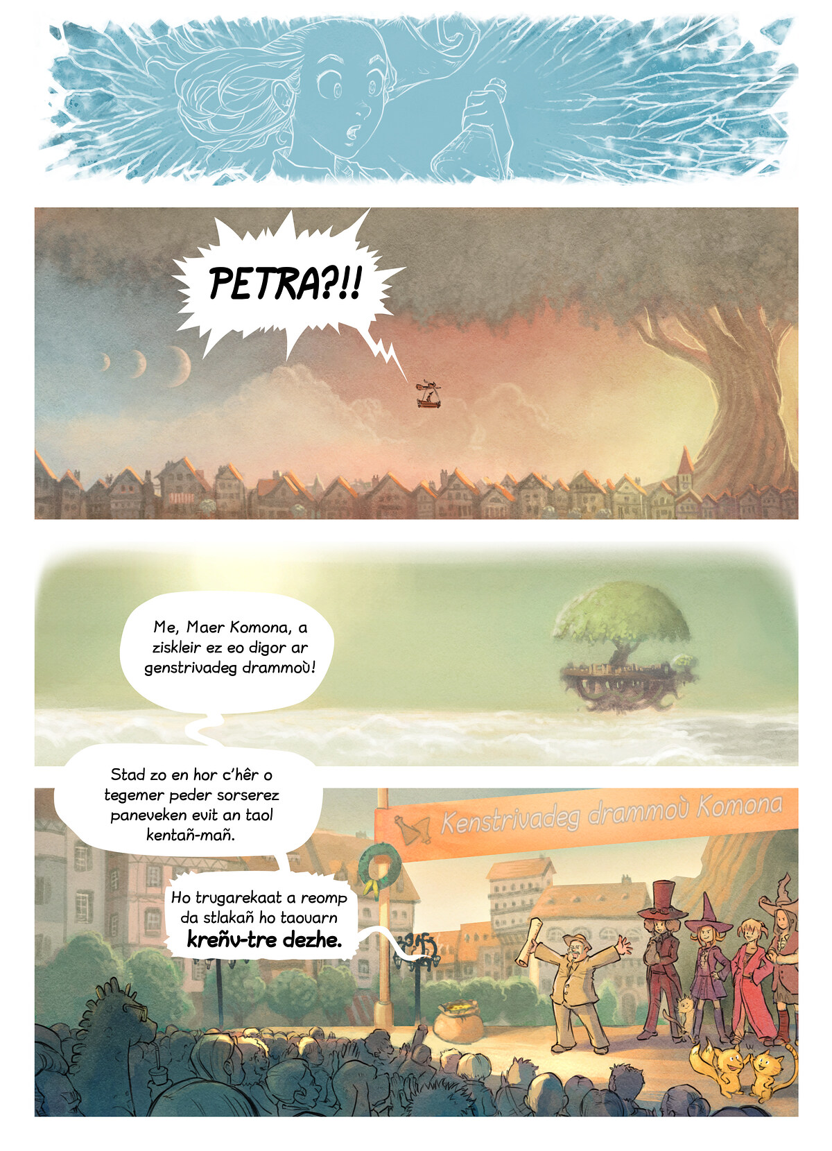 A webcomic page of Pepper&Carrot, rann 6 [br], pajenn 3