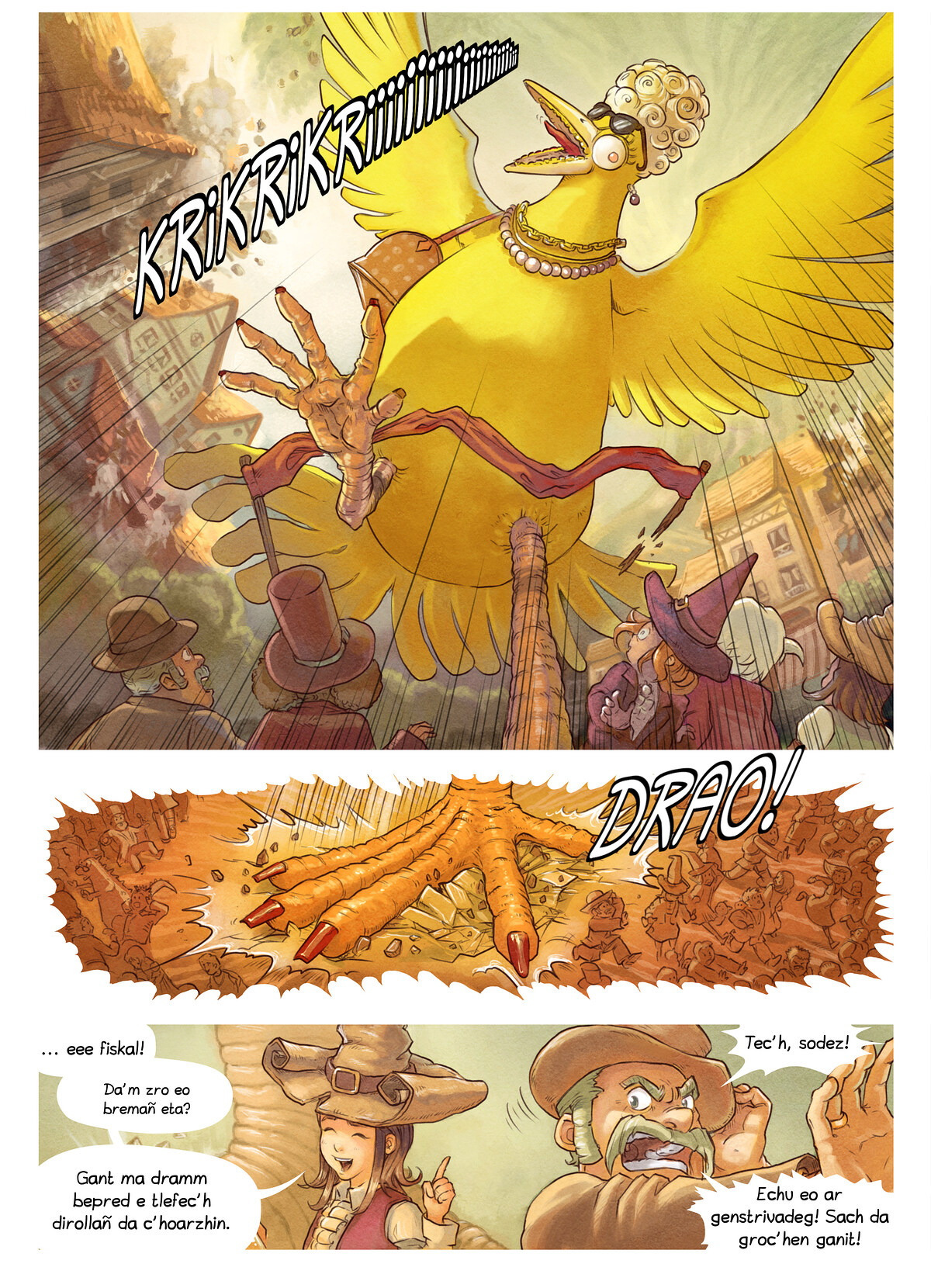 A webcomic page of Pepper&Carrot, rann 6 [br], pajenn 7