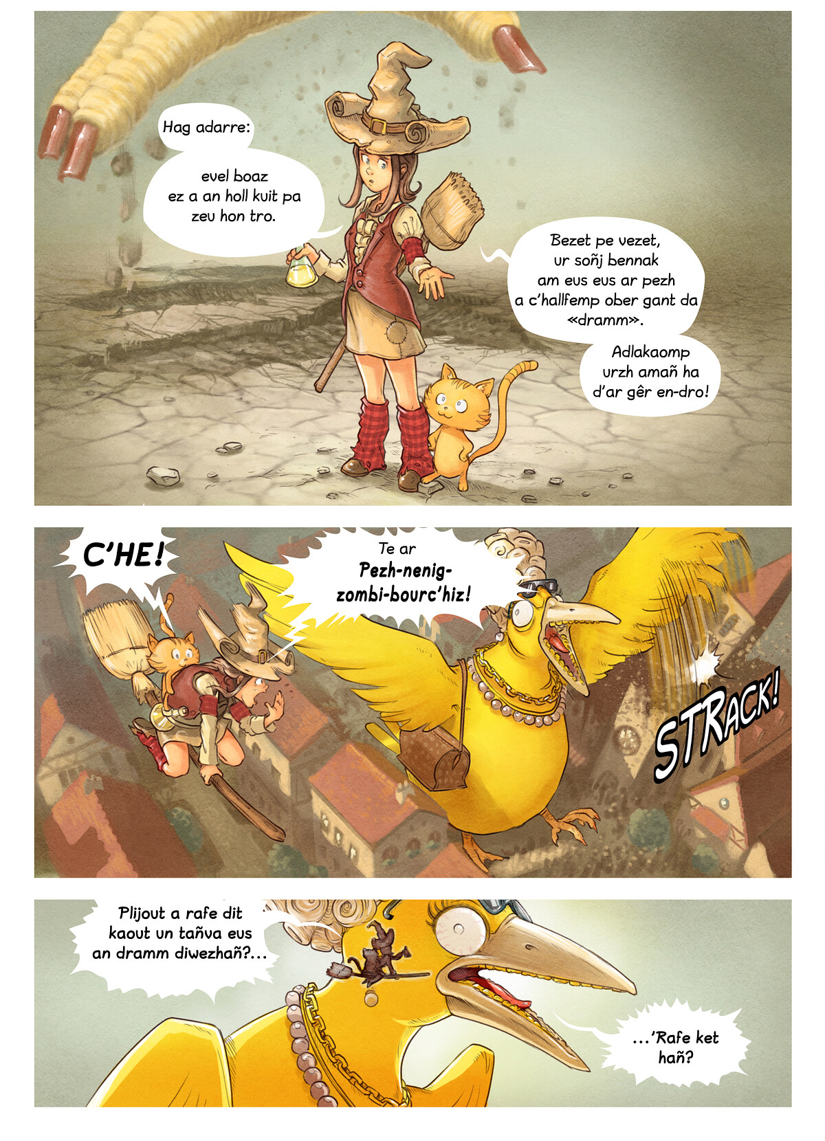 A webcomic page of Pepper&Carrot, rann 6 [br], pajenn 8