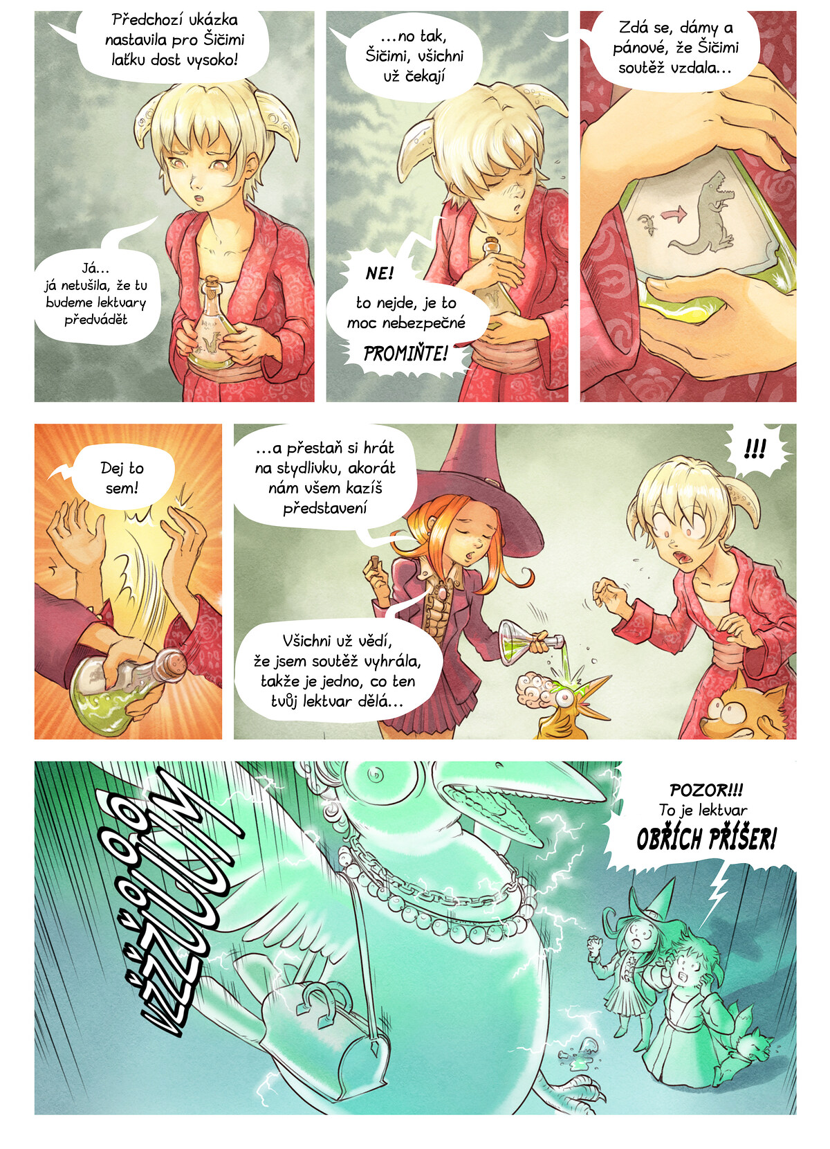 A webcomic page of Pepper&Carrot, epizoda 6 [cs], strana 6