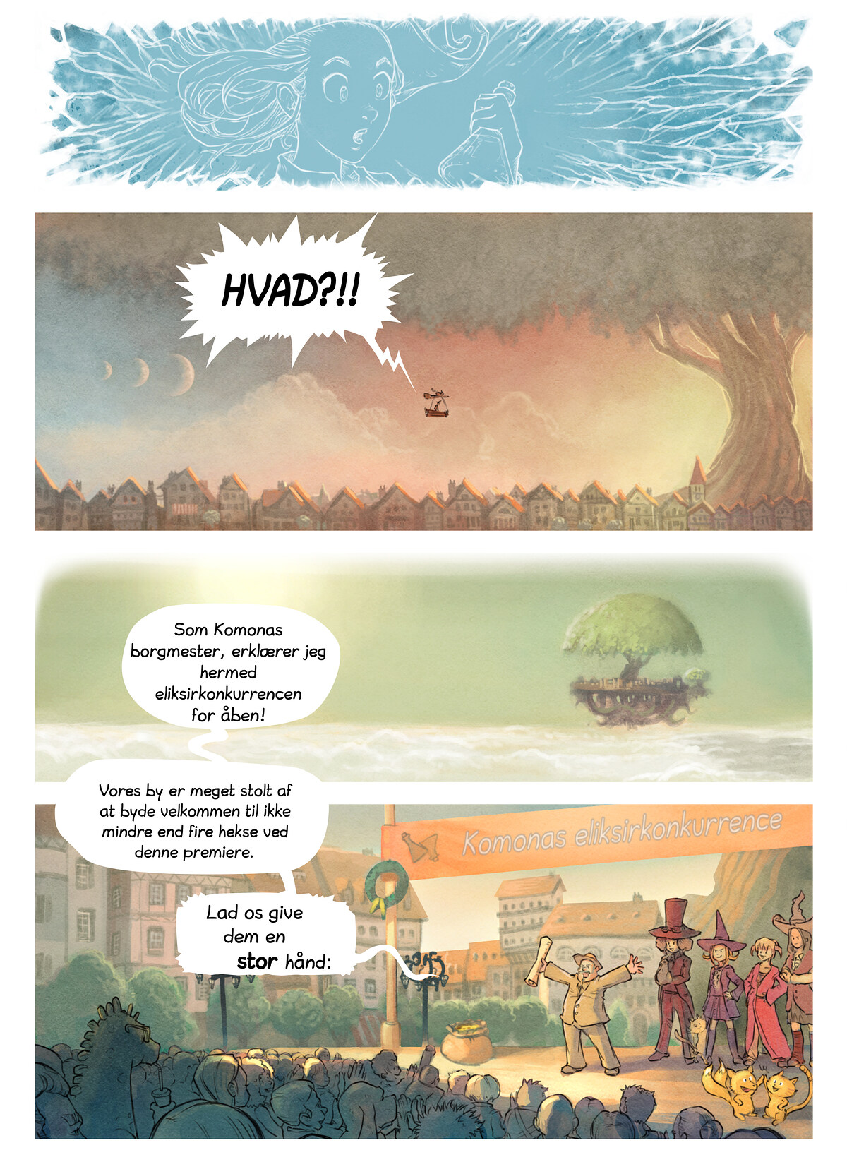 A webcomic page of Pepper&Carrot, episode 6 [da], page 3