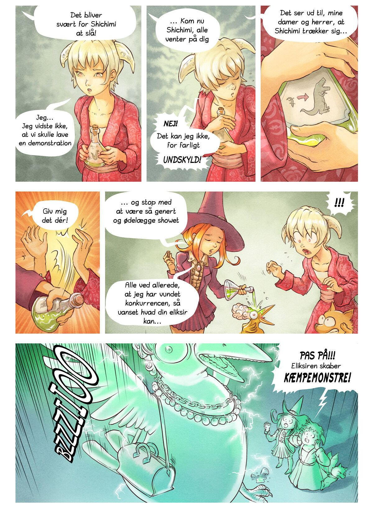 A webcomic page of Pepper&Carrot, episode 6 [da], page 6