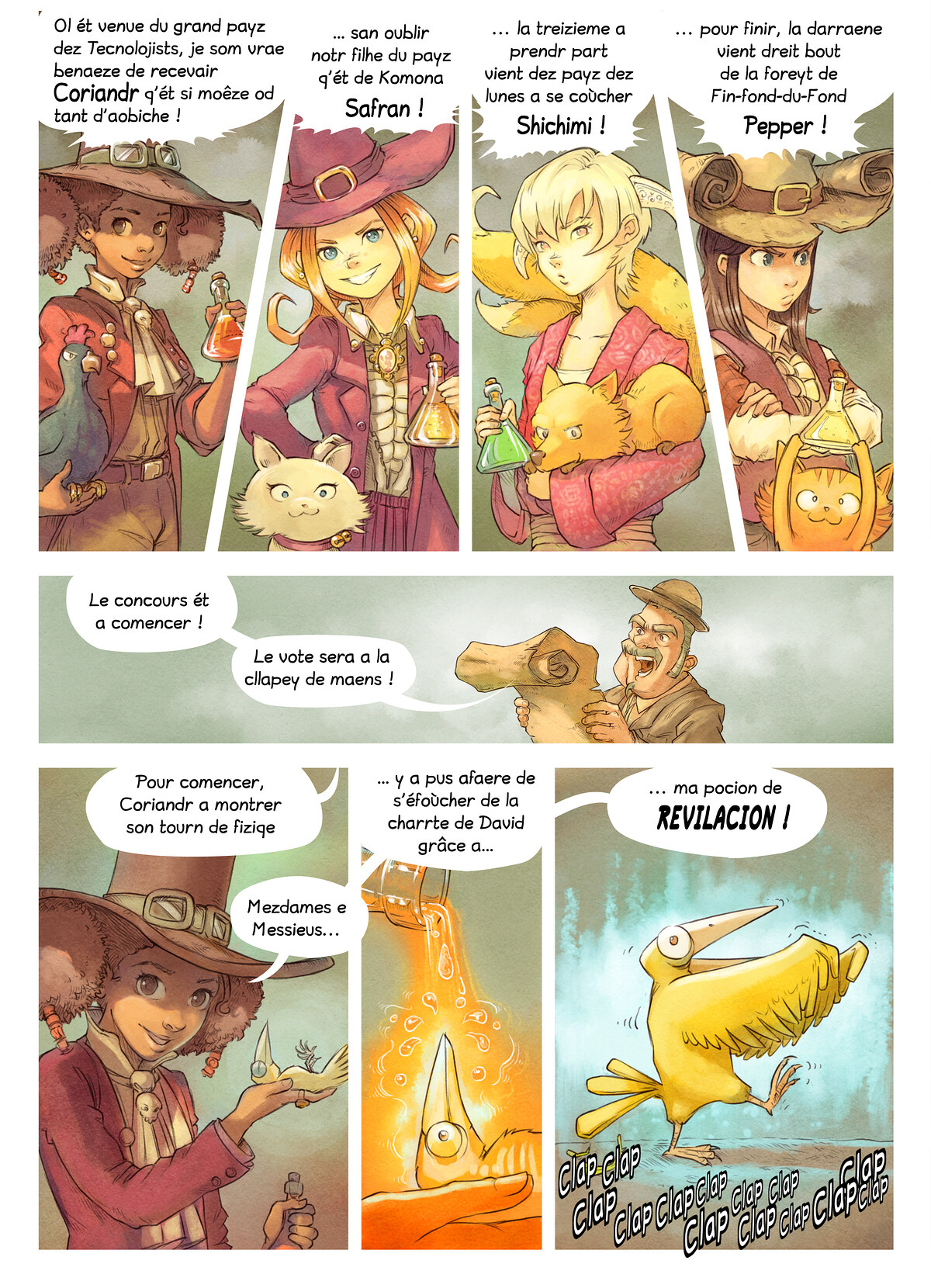 A webcomic page of Pepper&Carrot, episode 6 [go], page 4