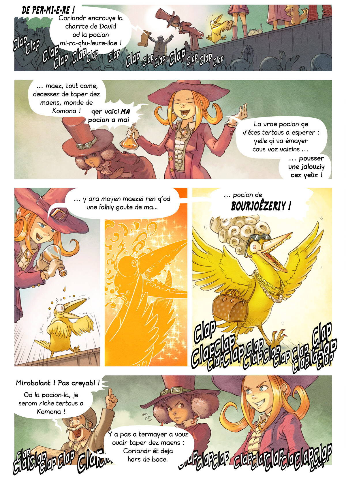 A webcomic page of Pepper&Carrot, episode 6 [go], page 5