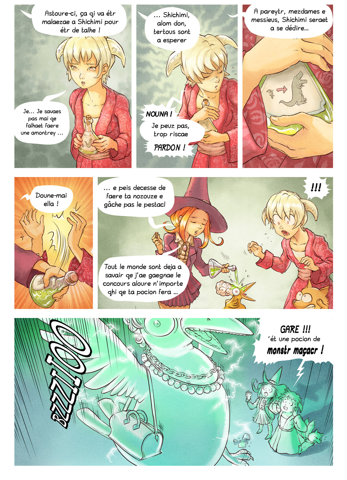 A webcomic page of Pepper&Carrot, episode 6 [go], page 6