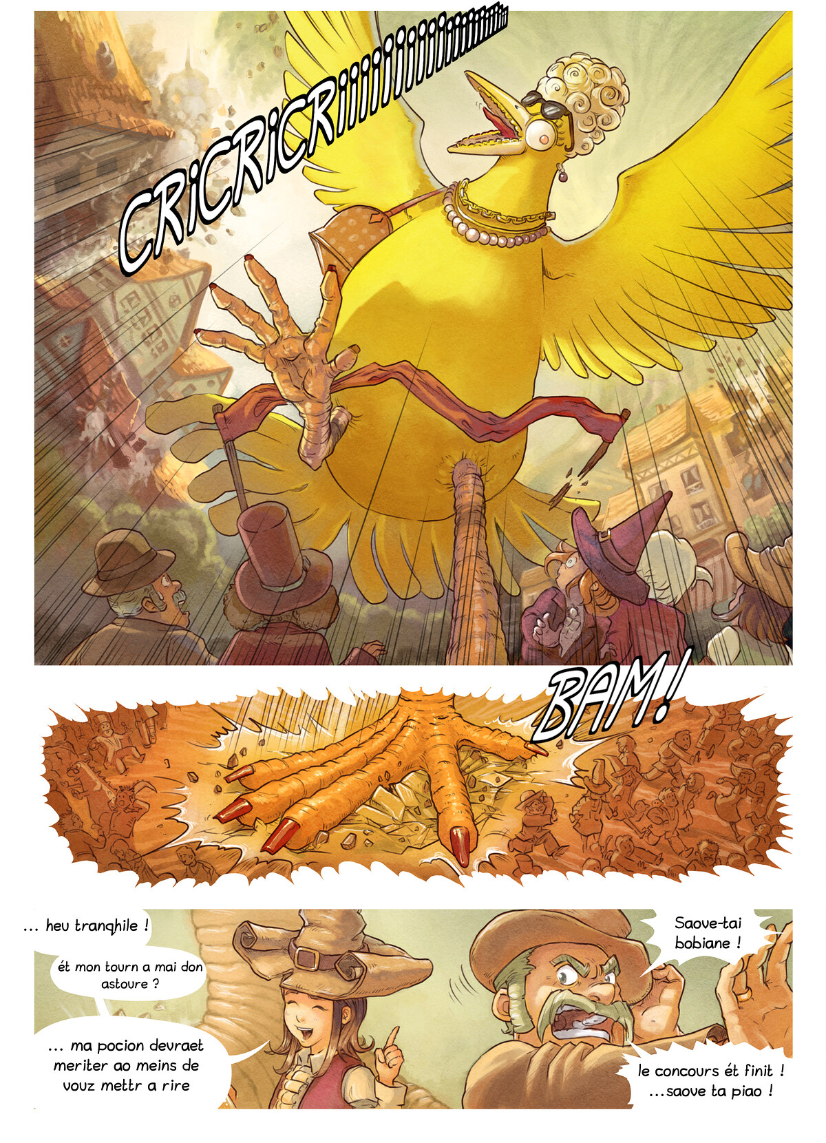A webcomic page of Pepper&Carrot, episode 6 [go], page 7