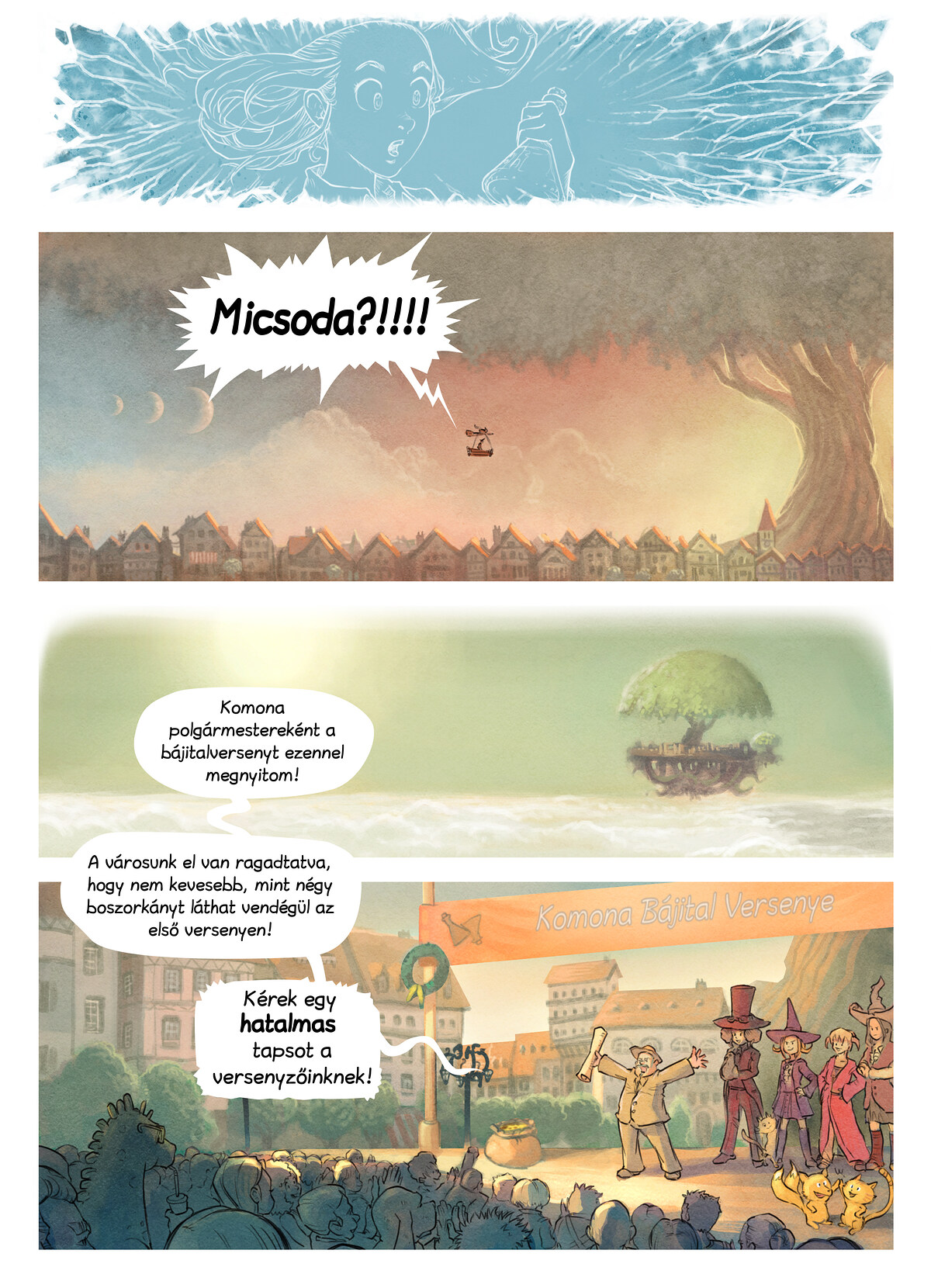 A webcomic page of Pepper&Carrot, epizód 6 [hu], oldal 3