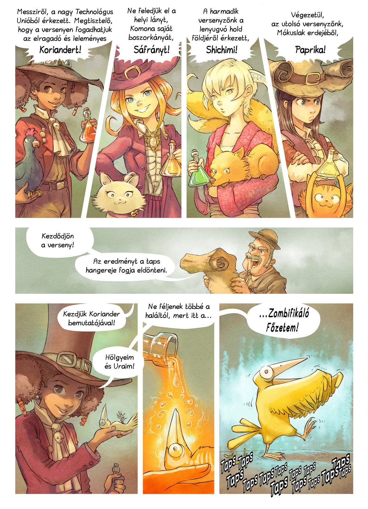 A webcomic page of Pepper&Carrot, epizód 6 [hu], oldal 4