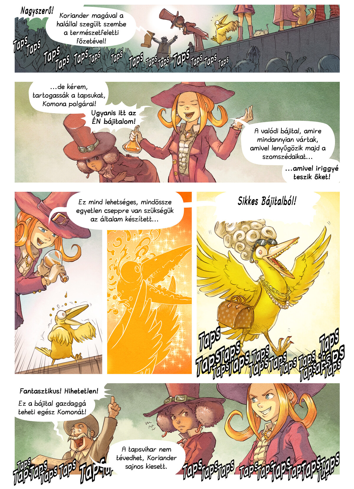 A webcomic page of Pepper&Carrot, epizód 6 [hu], oldal 5