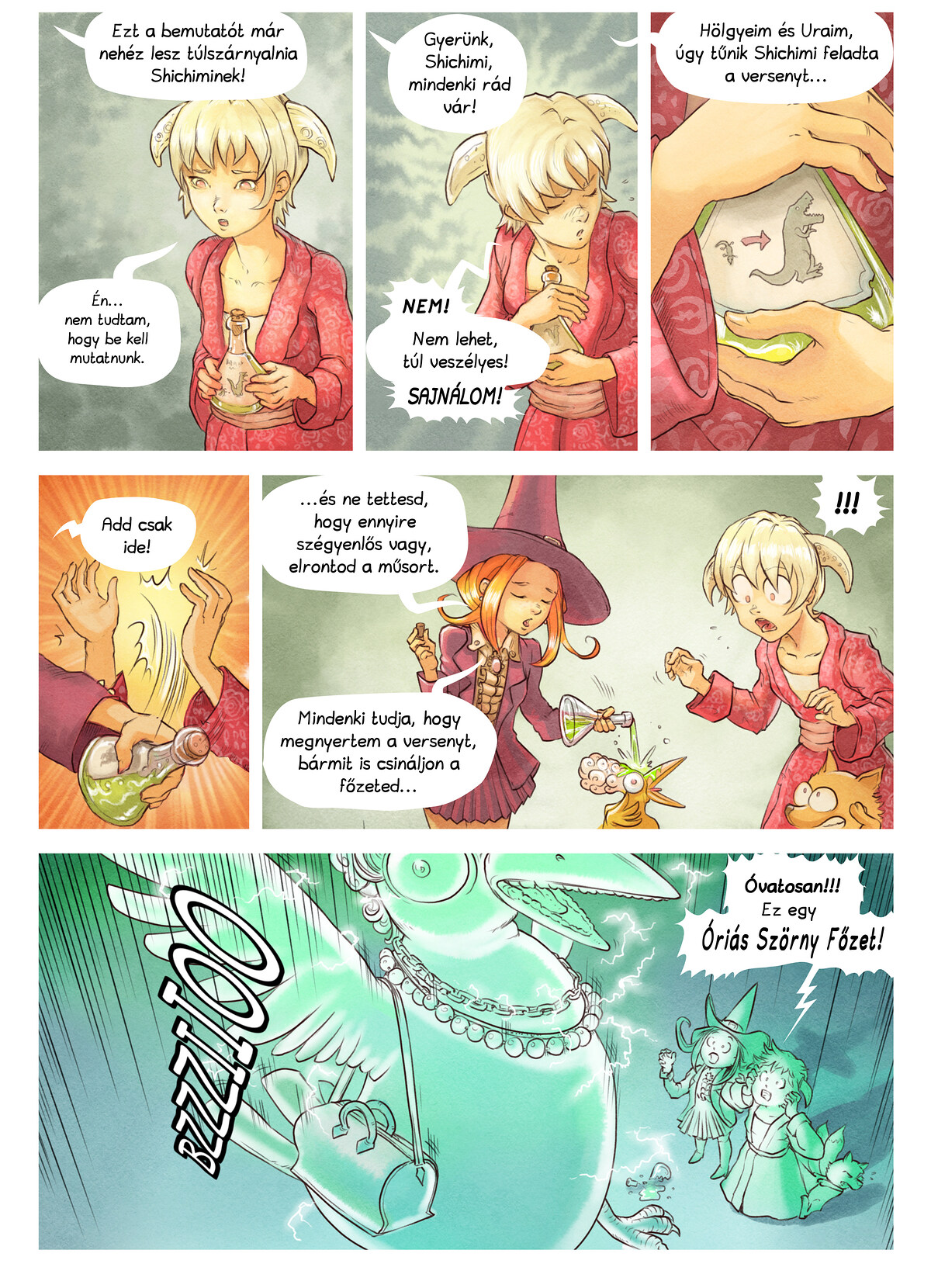 A webcomic page of Pepper&Carrot, epizód 6 [hu], oldal 6