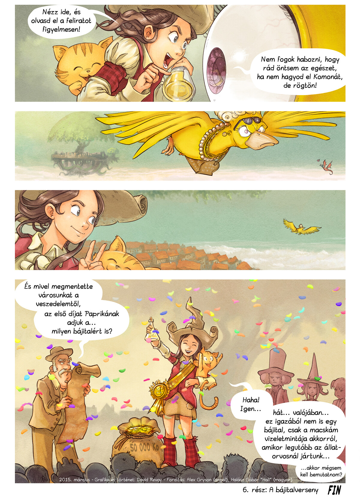 A webcomic page of Pepper&Carrot, epizód 6 [hu], oldal 9
