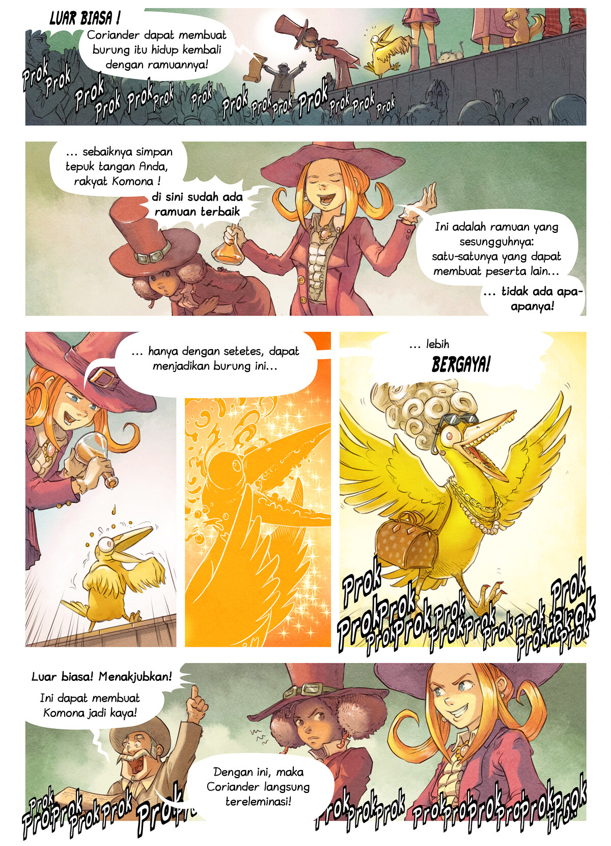 A webcomic page of Pepper&Carrot, episode 6 [id], halaman 5
