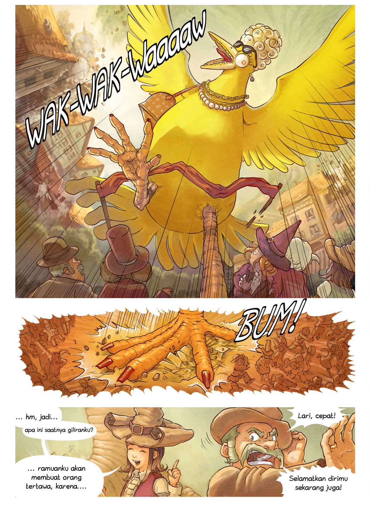 A webcomic page of Pepper&Carrot, episode 6 [id], halaman 7