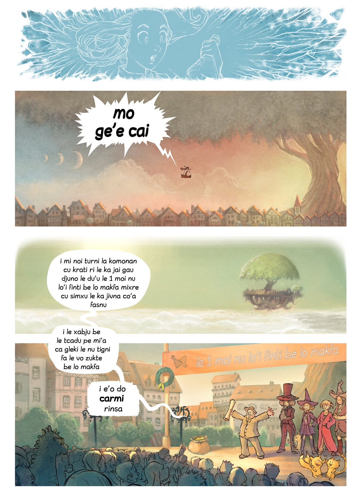 A webcomic page of Pepper&Carrot, pagbu 6 [jb], papri 3