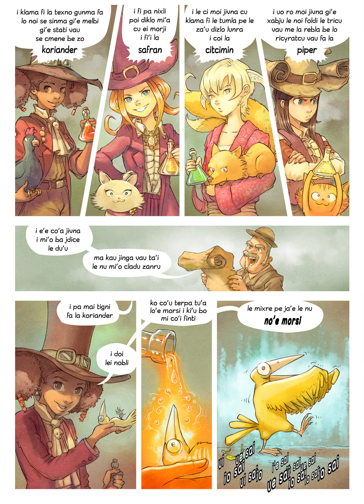 A webcomic page of Pepper&Carrot, pagbu 6 [jb], papri 4