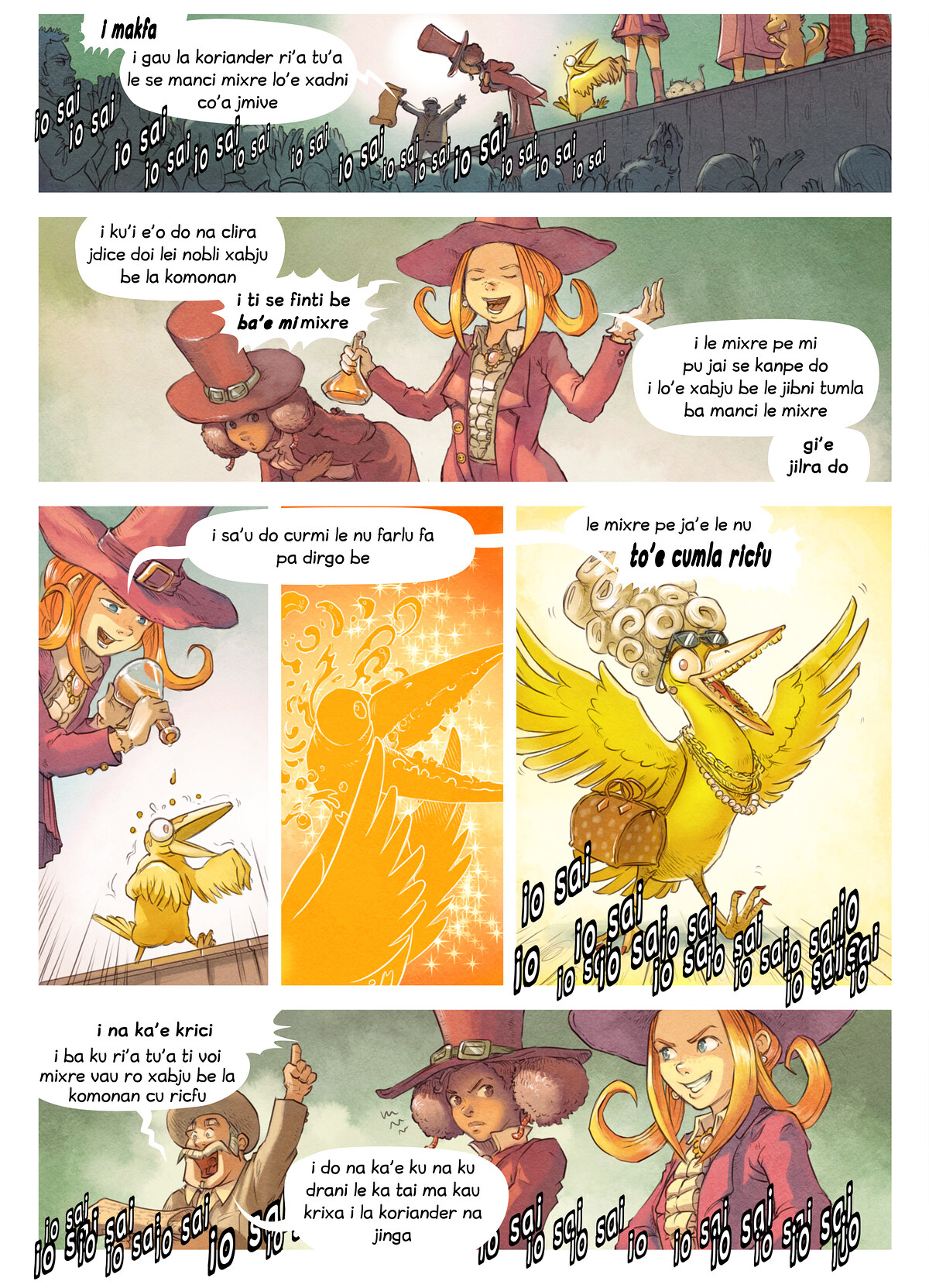 A webcomic page of Pepper&Carrot, pagbu 6 [jb], papri 5