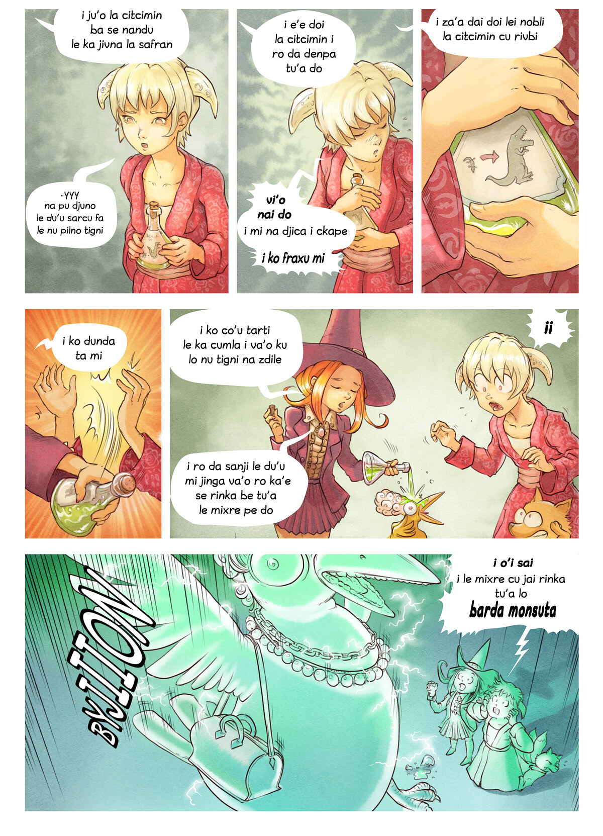 A webcomic page of Pepper&Carrot, pagbu 6 [jb], papri 6