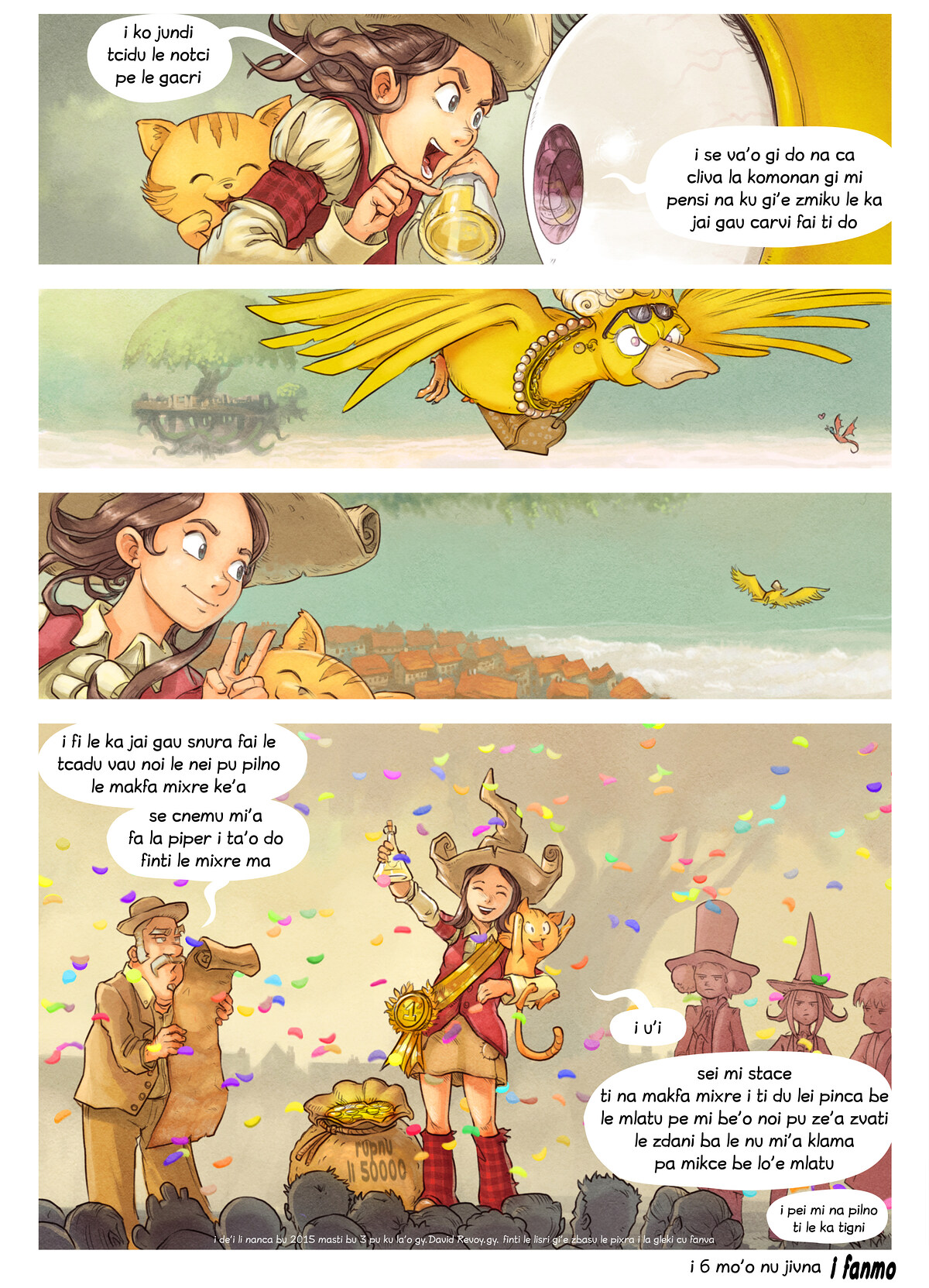 A webcomic page of Pepper&Carrot, pagbu 6 [jb], papri 9