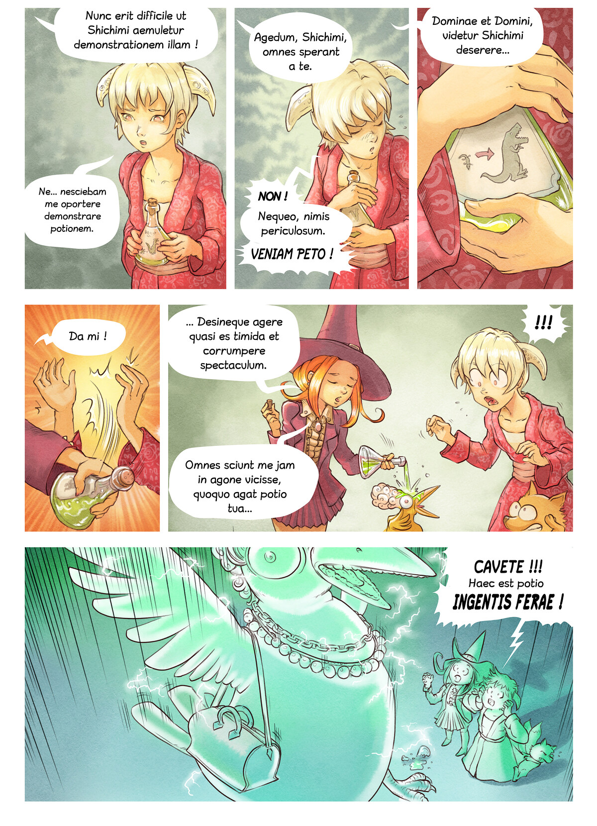 A webcomic page of Pepper&Carrot, episode 6 [la], page 6