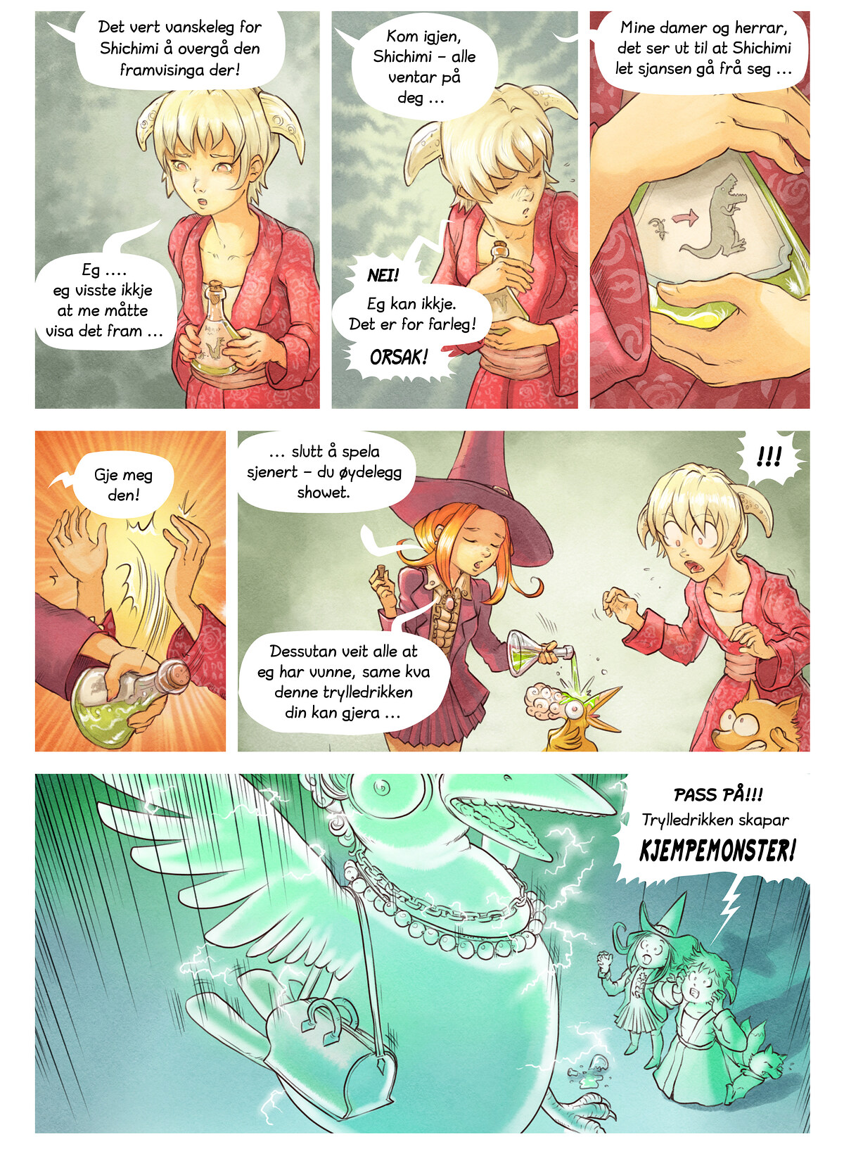 A webcomic page of Pepper&Carrot, episode 6 [nn], side 6