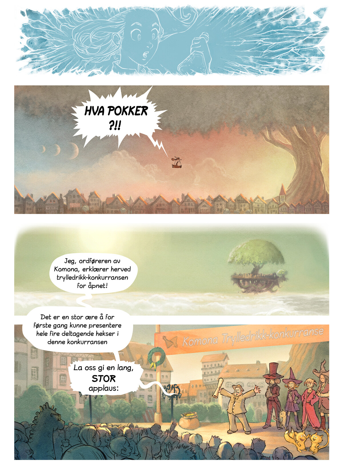 A webcomic page of Pepper&Carrot, episode 6 [no], side 3