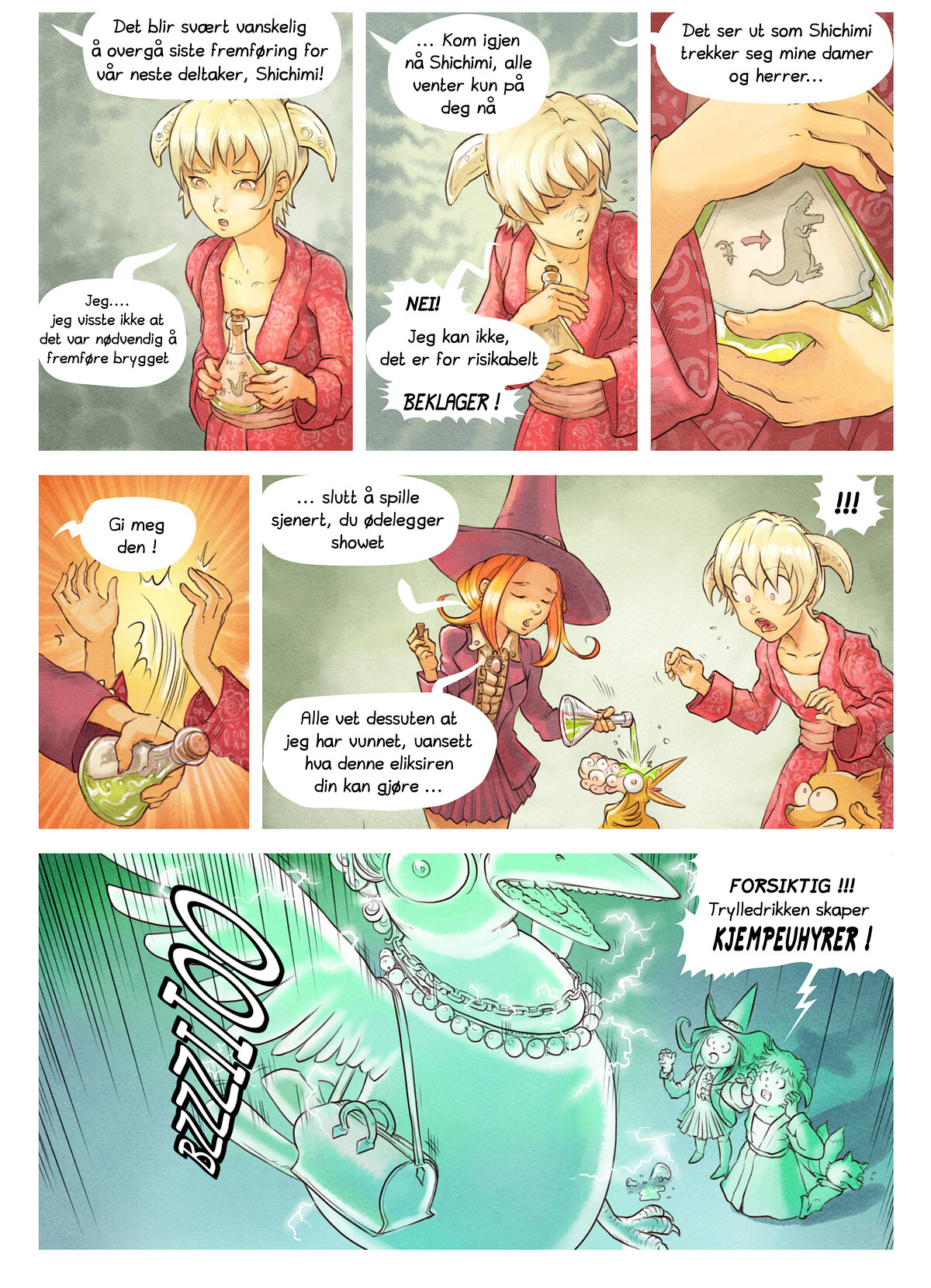 A webcomic page of Pepper&Carrot, episode 6 [no], side 6