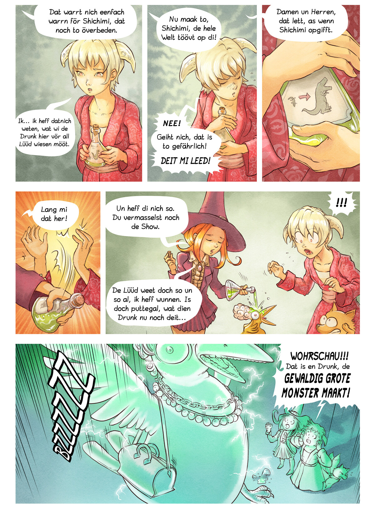 A webcomic page of Pepper&Carrot, Folg 6 [ns], Siet 6