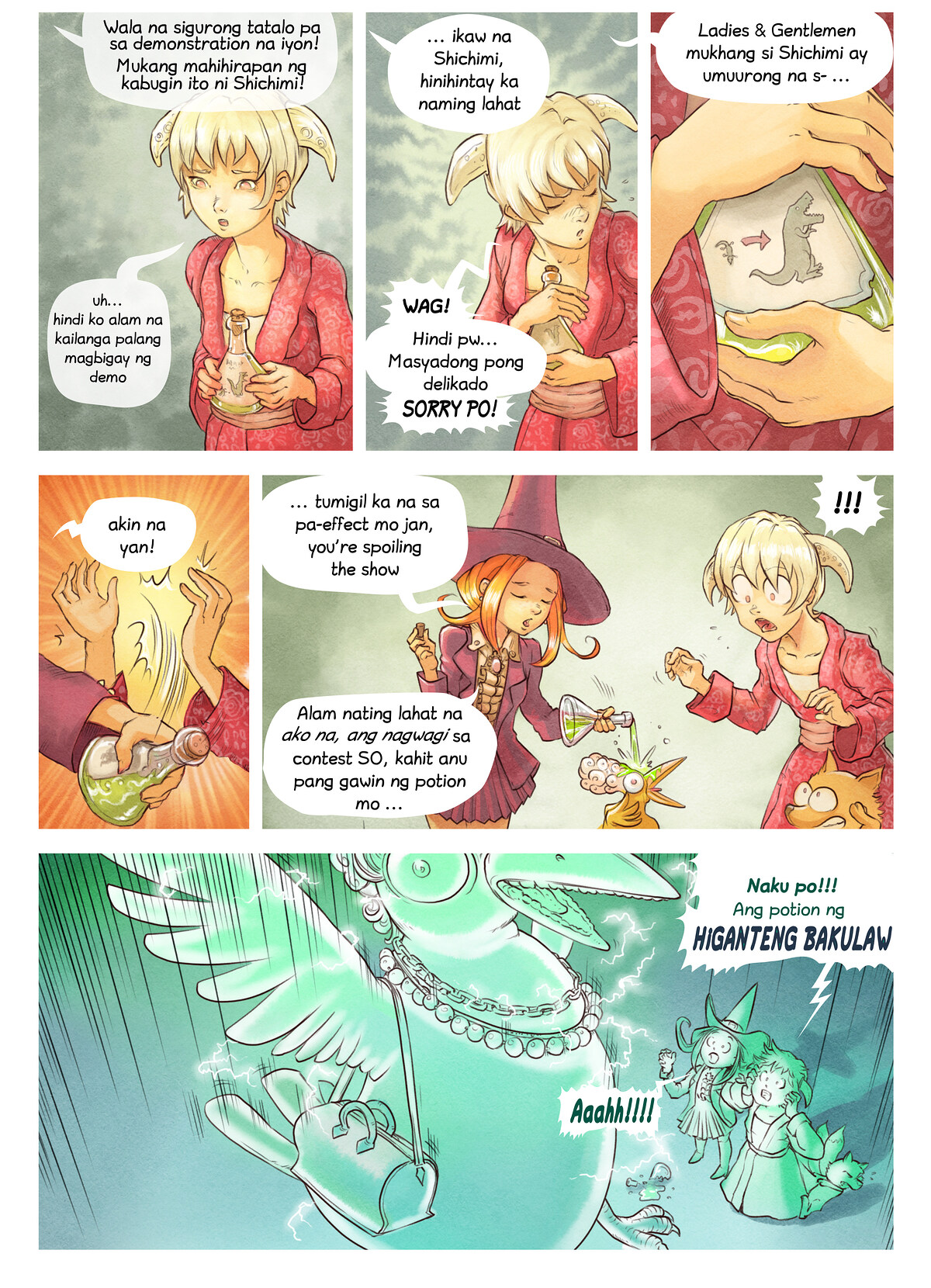 A webcomic page of Pepper&Carrot, episode 6 [ph], page 6