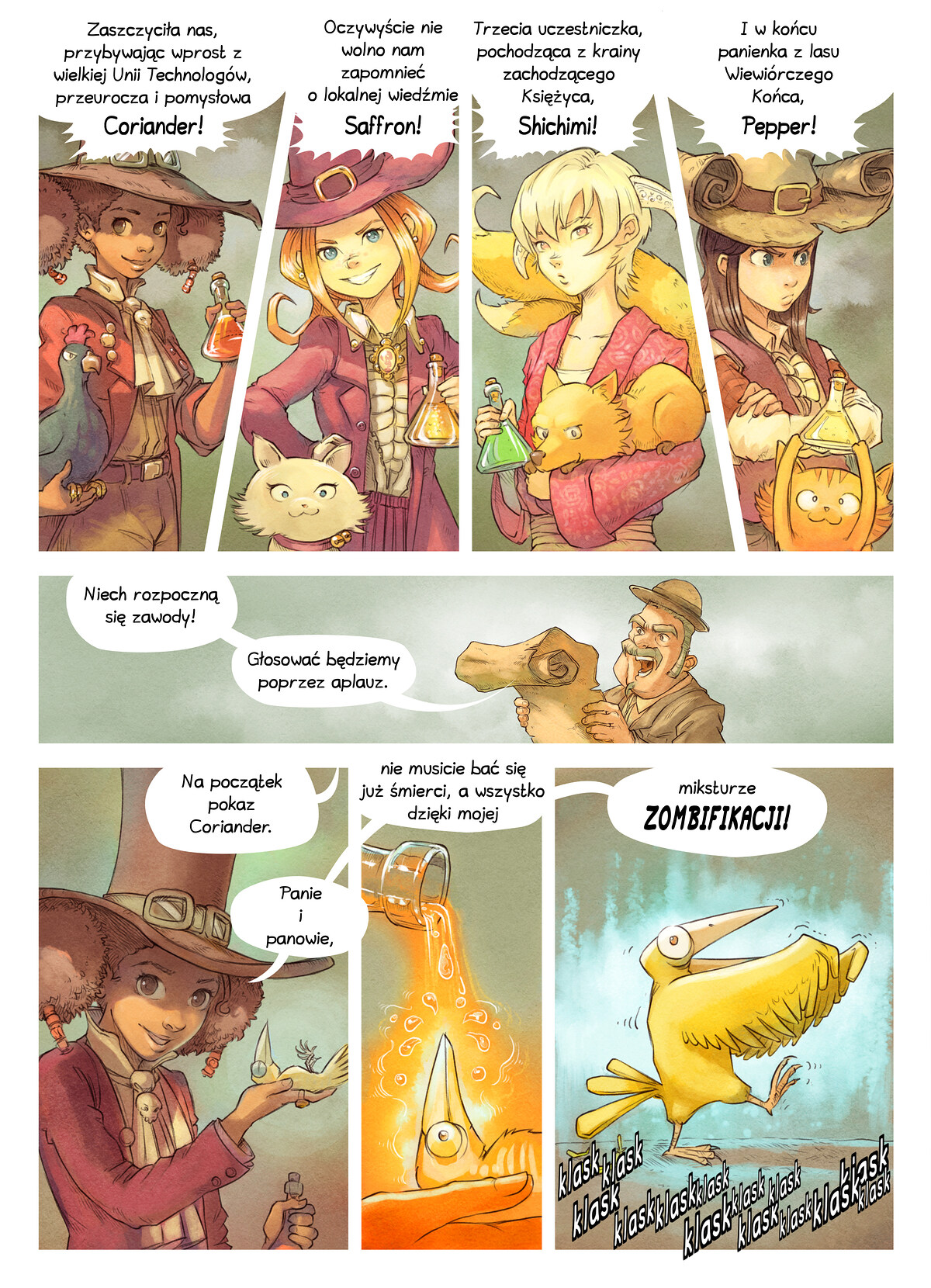 A webcomic page of Pepper&Carrot, odcinek 6 [pl], strona 4