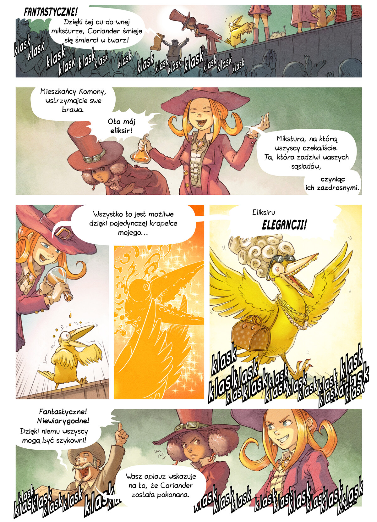 A webcomic page of Pepper&Carrot, odcinek 6 [pl], strona 5